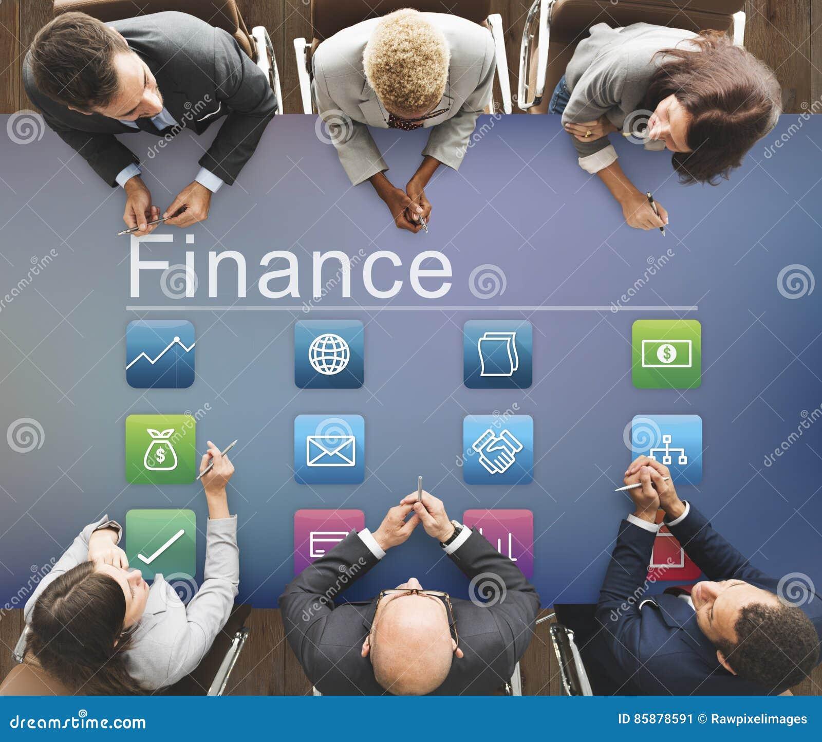 Concept de graphique d investissement d application d économie de finances