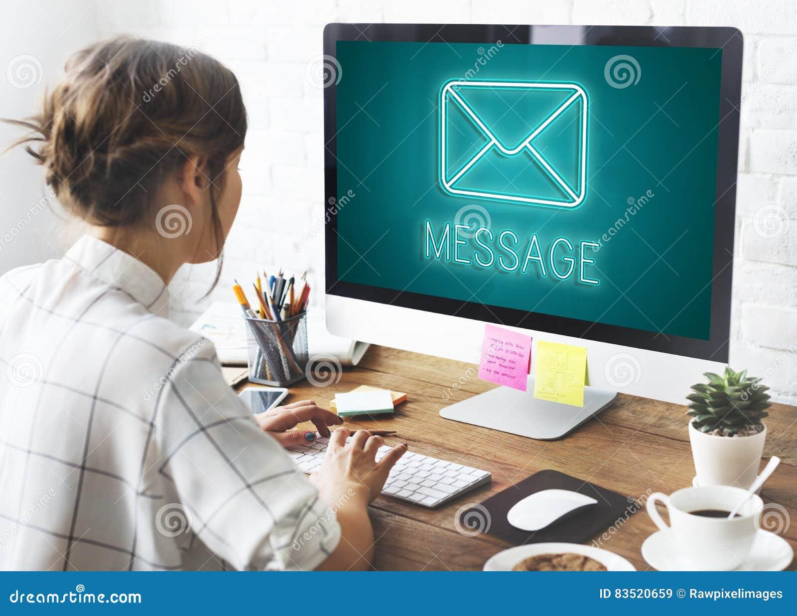 Concept de graphique de causerie d enveloppe de lettre de message