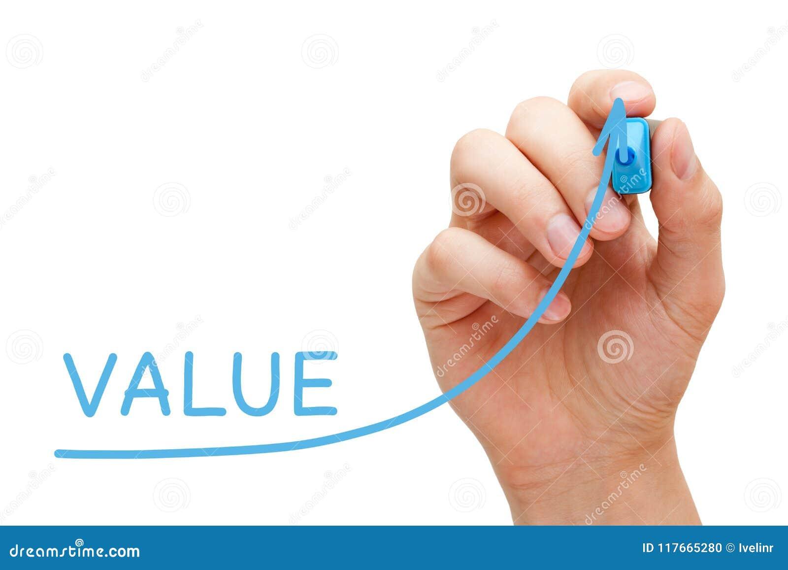 Concept de graphique de flèche de valeur d augmentation
