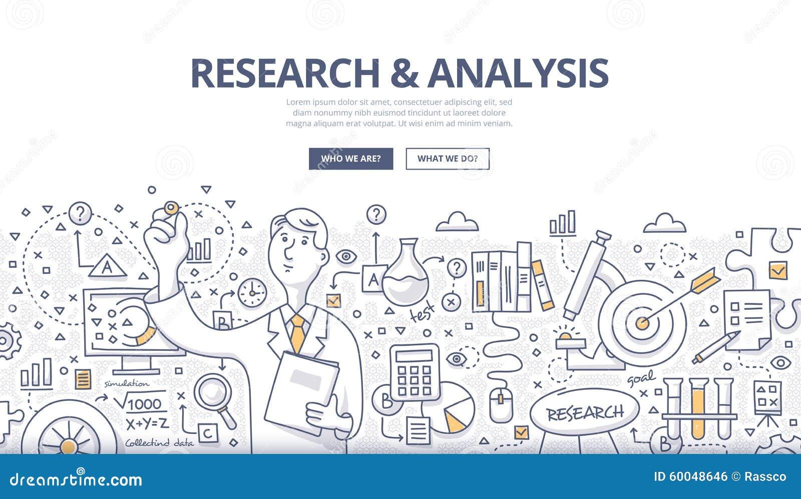 Concept de griffonnage de recherches et d analyse