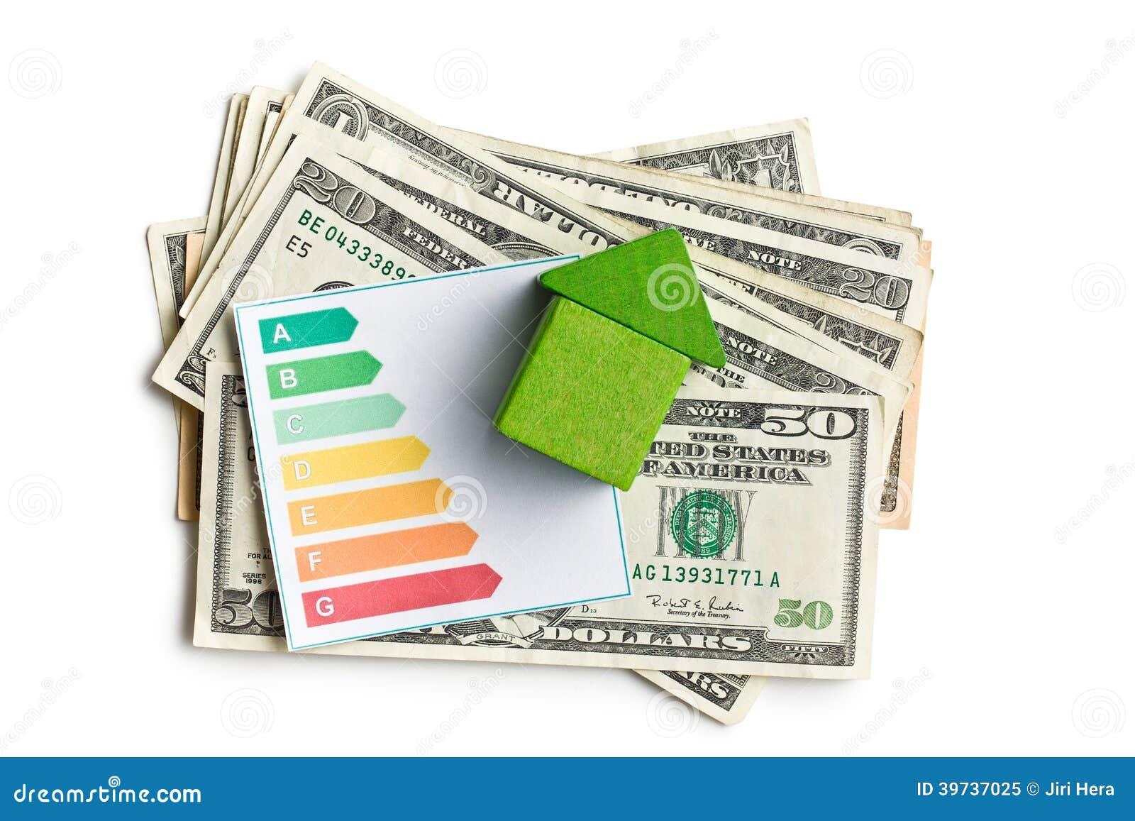 concept de l'économie d'énergie de maison image stock - image du