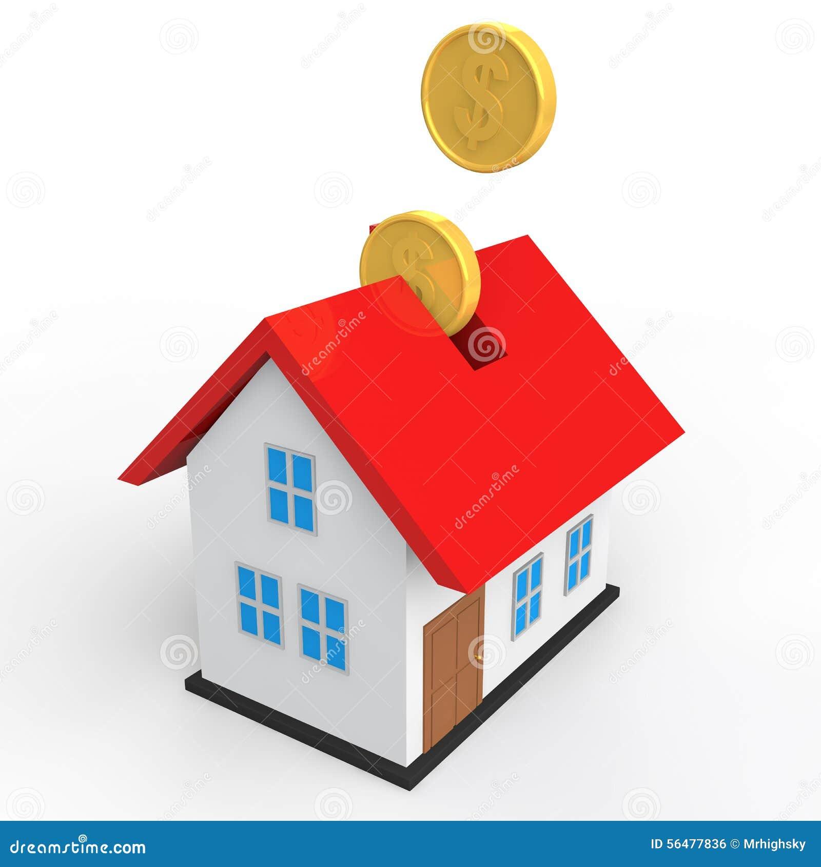 Concept de l épargne de la maison 3d