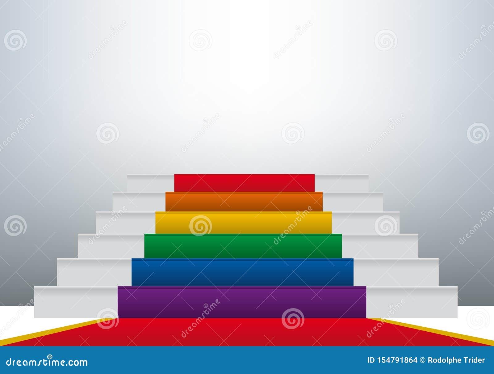 Concept de l homosexualité avec l évolution de la mentalité et du progrès dans l acceptation de la communauté gaie