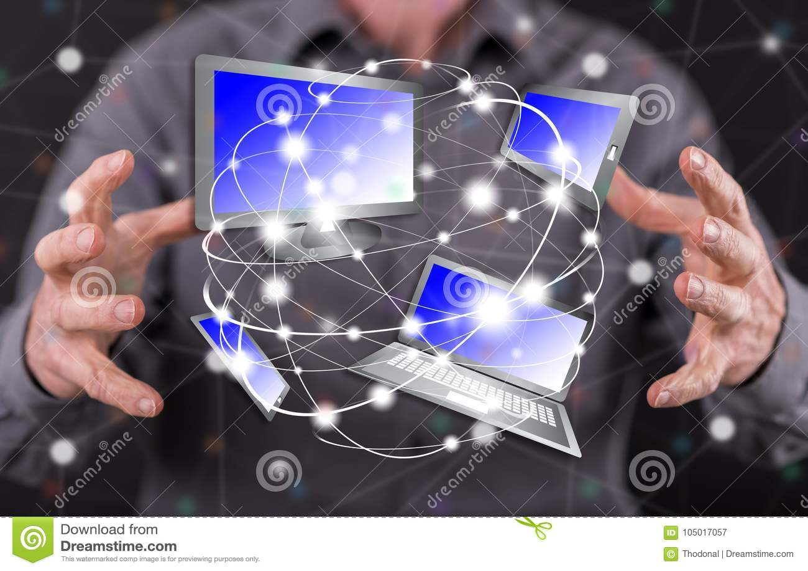 Concept de la connexion de dispositifs