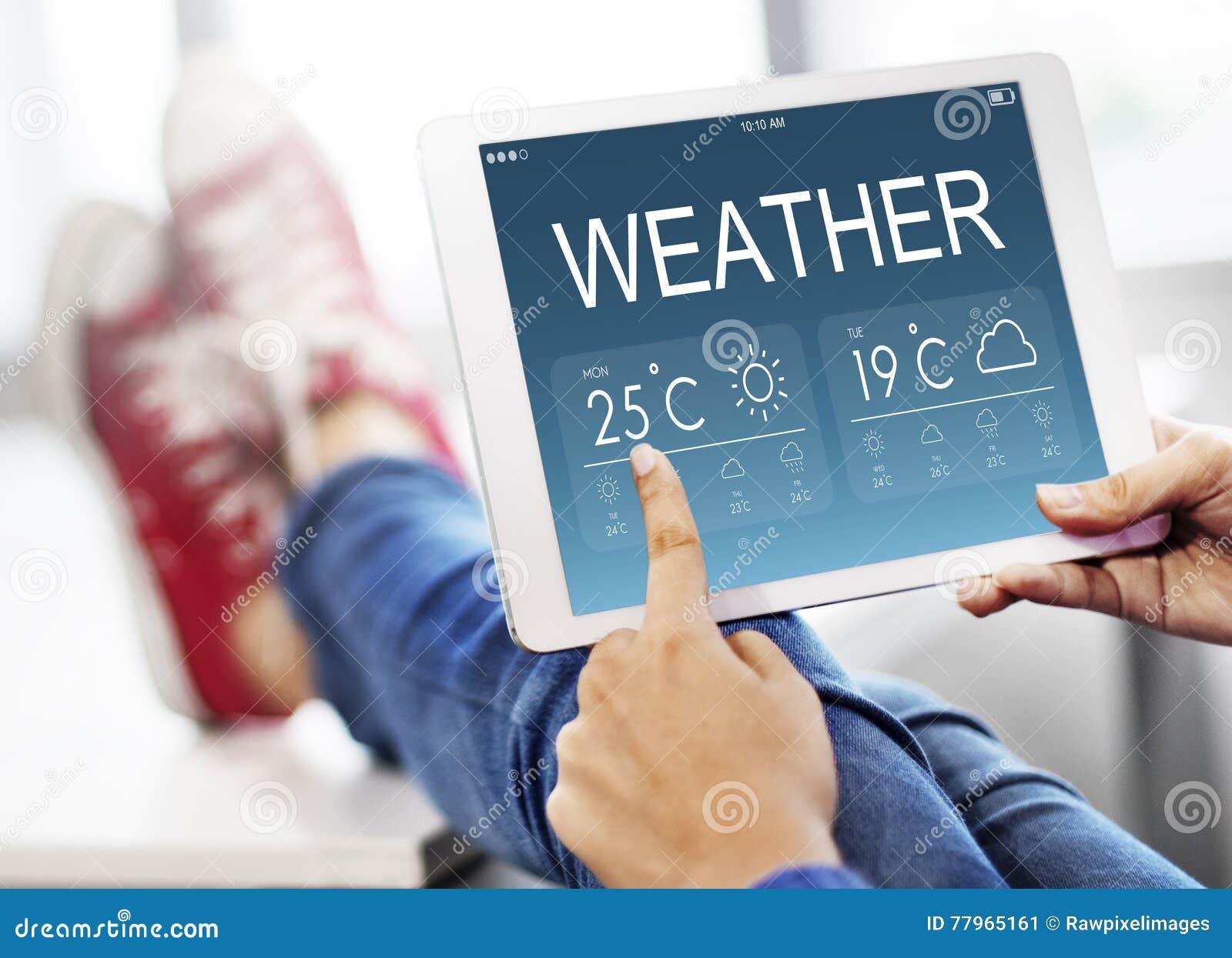 Concept de la température de prévision de rapport de temps