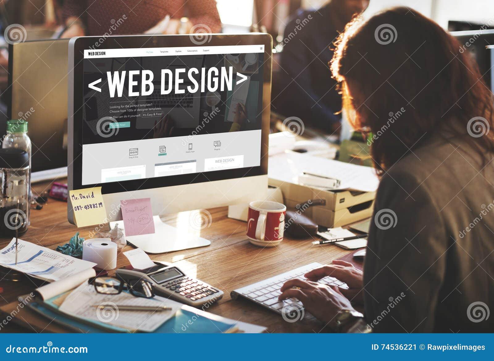 Concept de logiciel sensible de site Web d Internet de web design