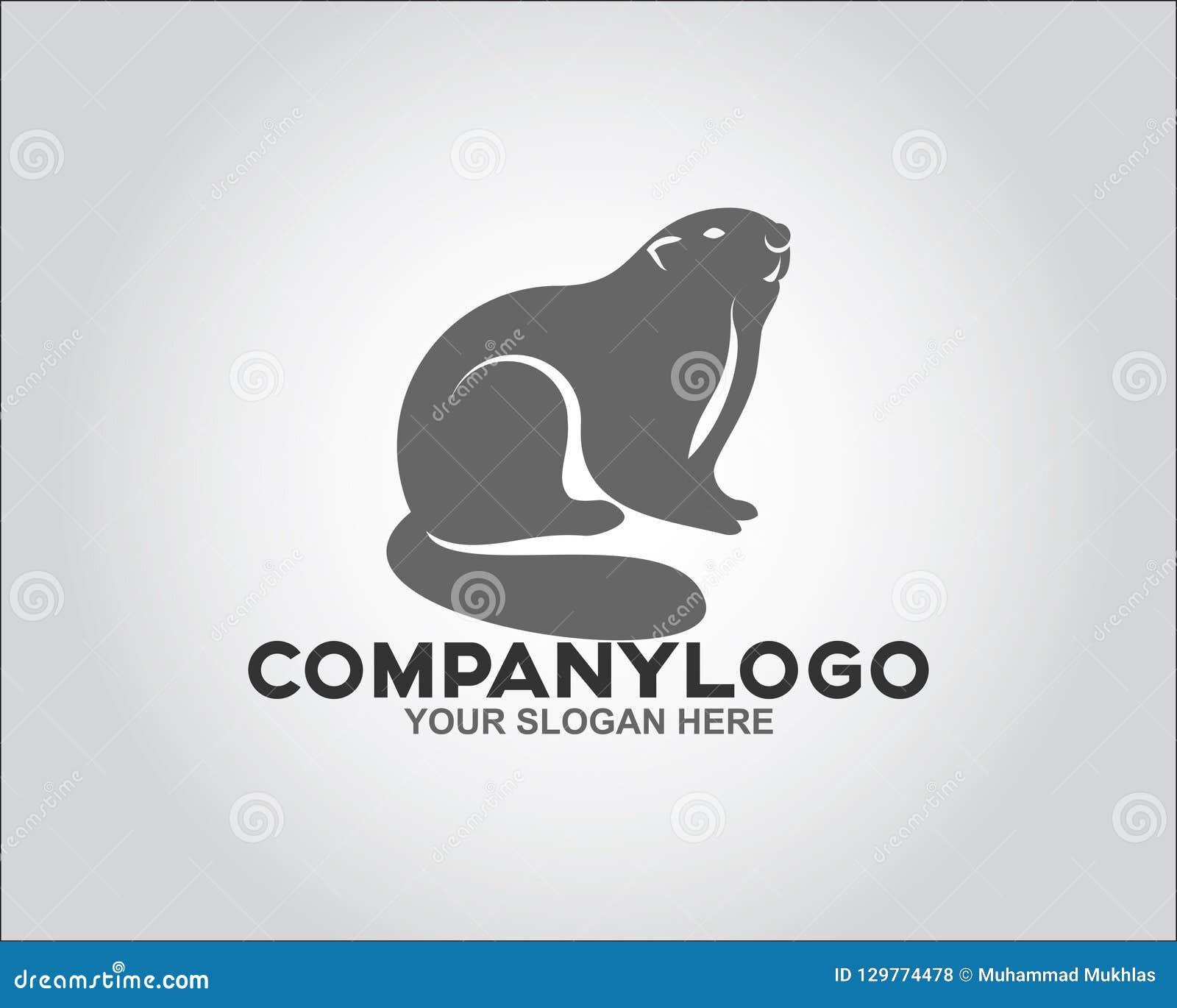 Concept de logo de rongeur de visage
