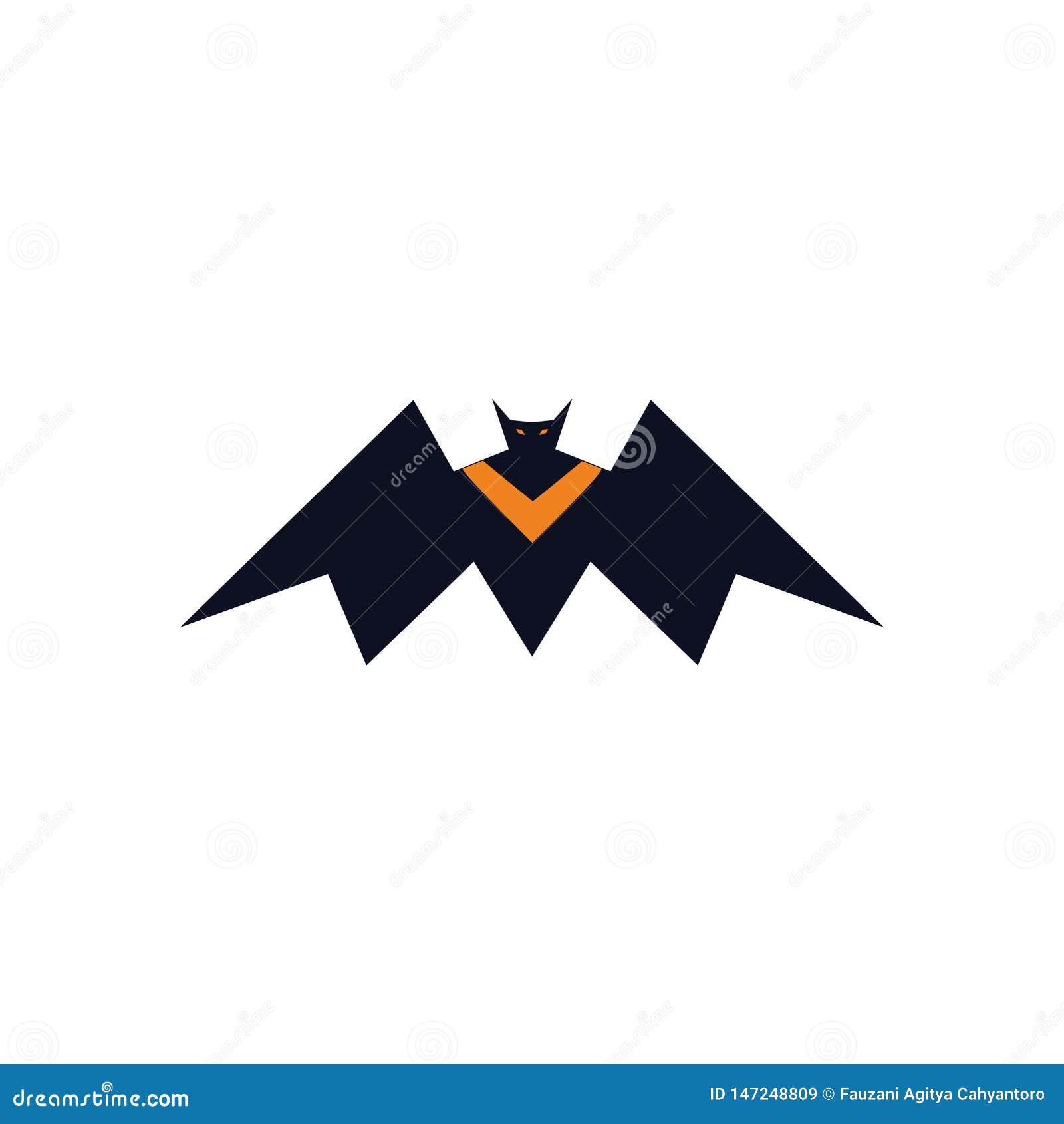 Concept de logo de vampire de batte de roi