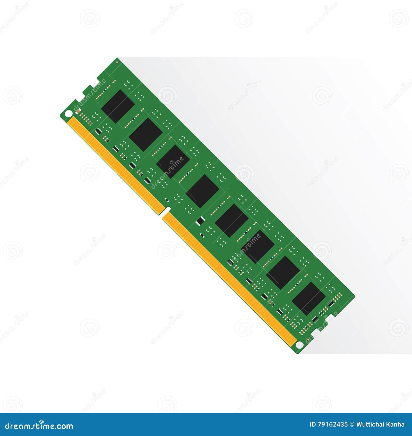 Concept de mémoire à accès sélectif par le labtop 4GB ou 8GB ou 16GB de RAM