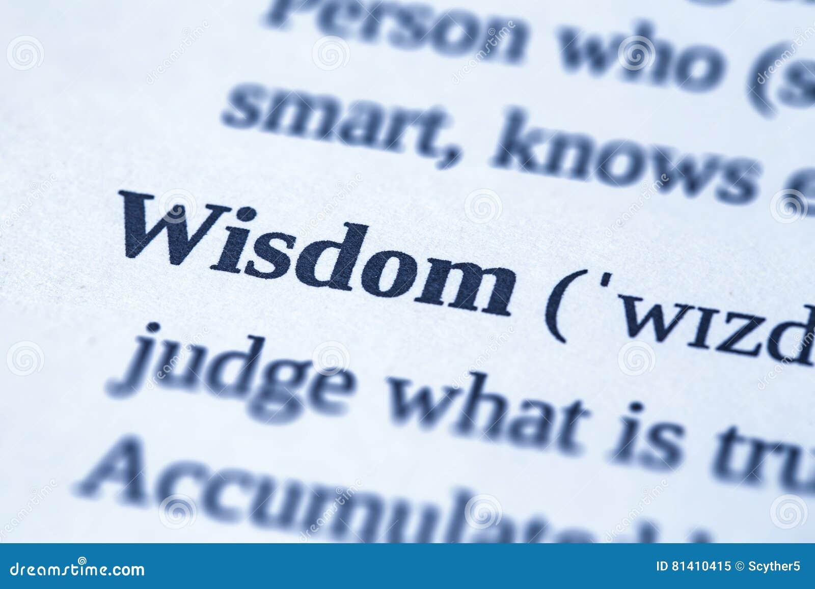 Concept de mot de sagesse
