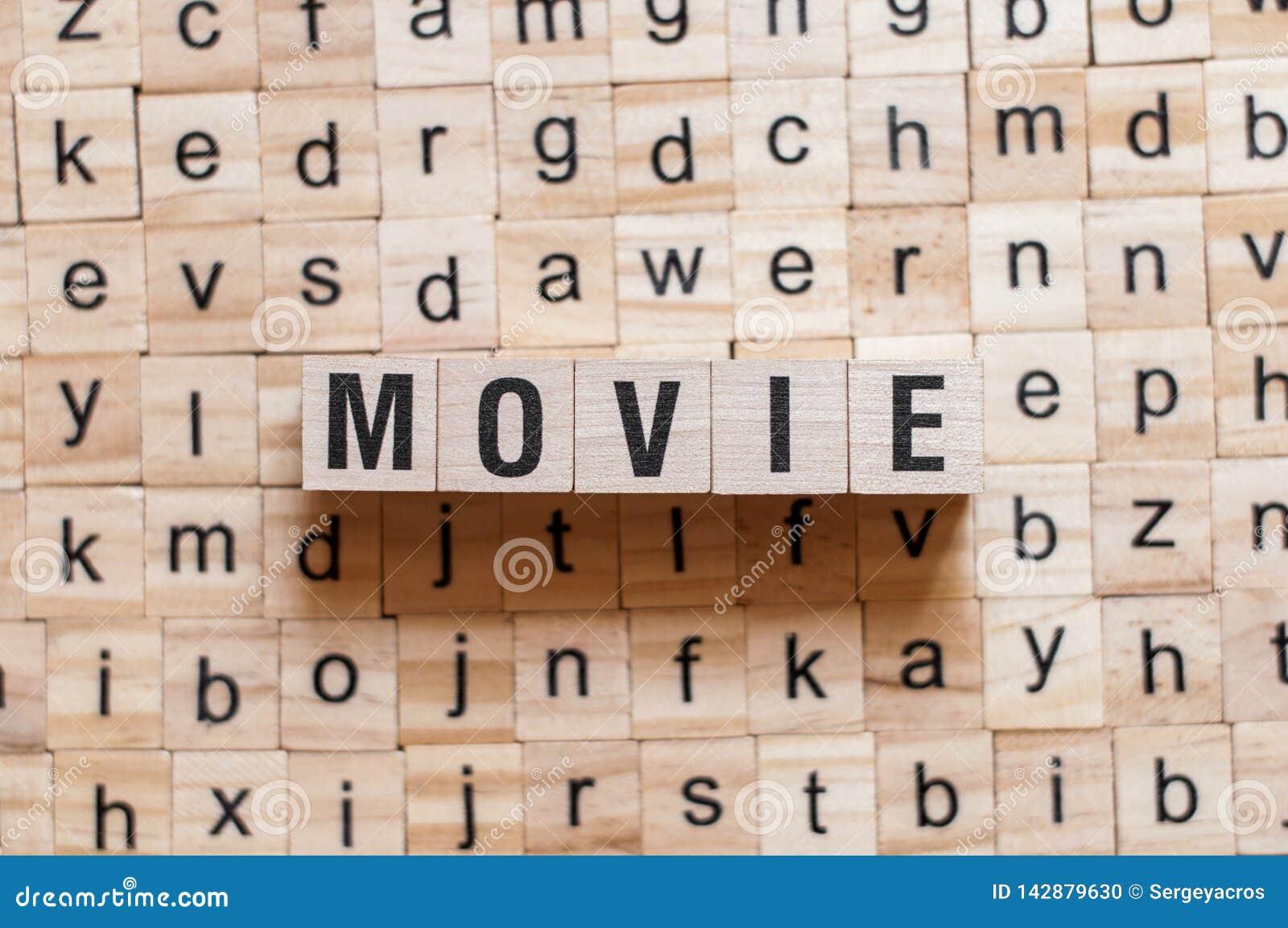 Concept de mot de film