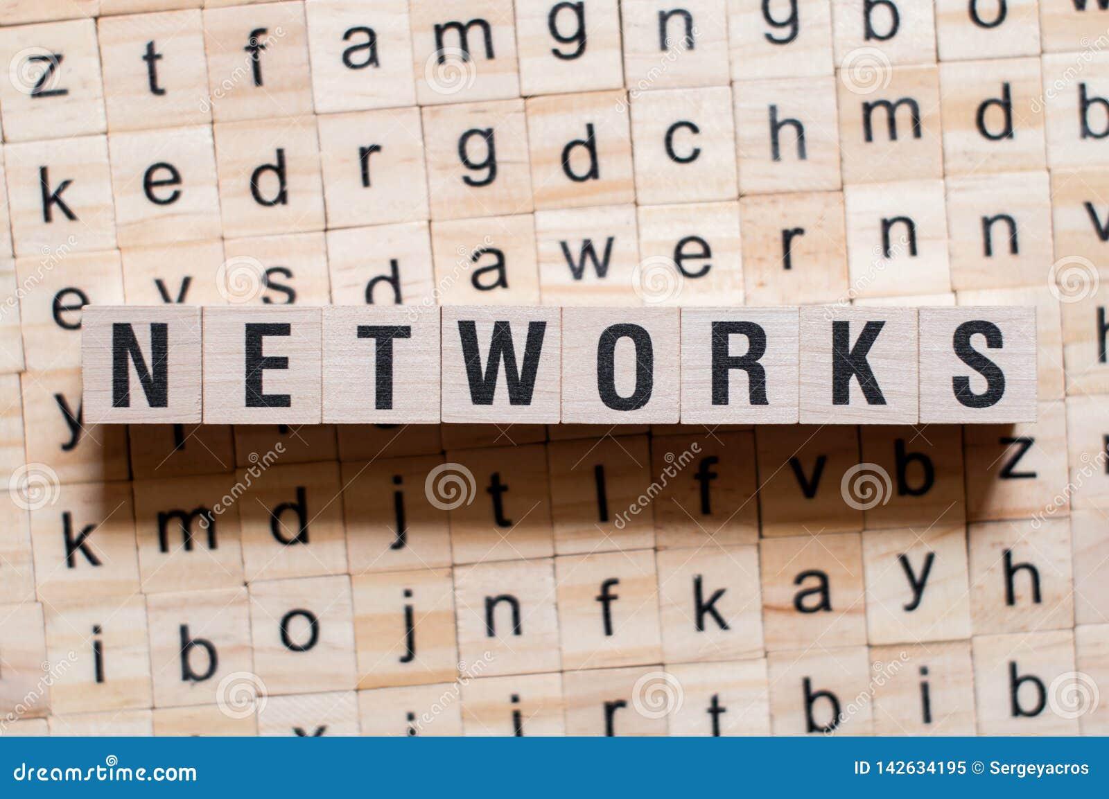 Concept de mot de réseaux