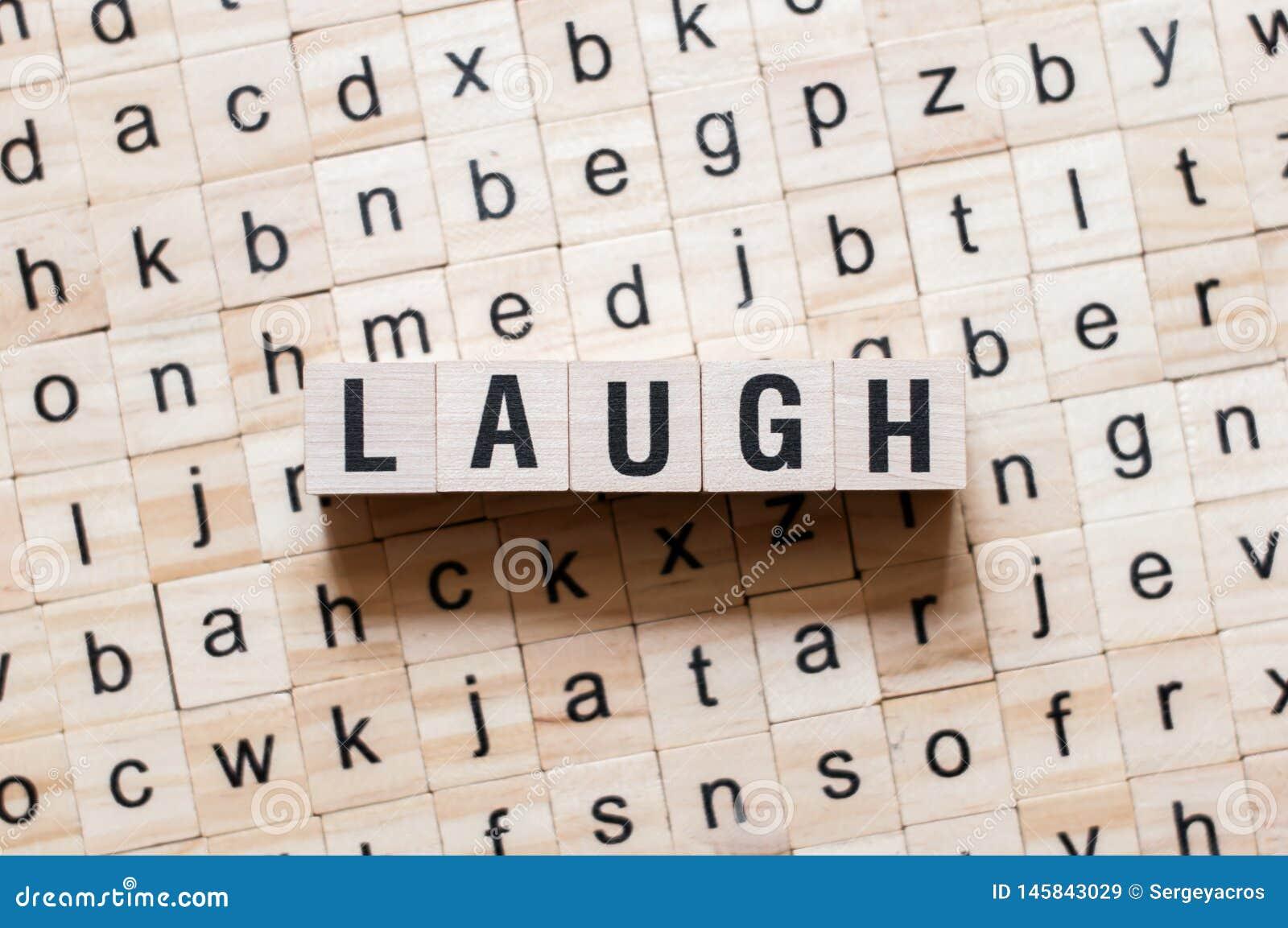 Concept de mot de rire