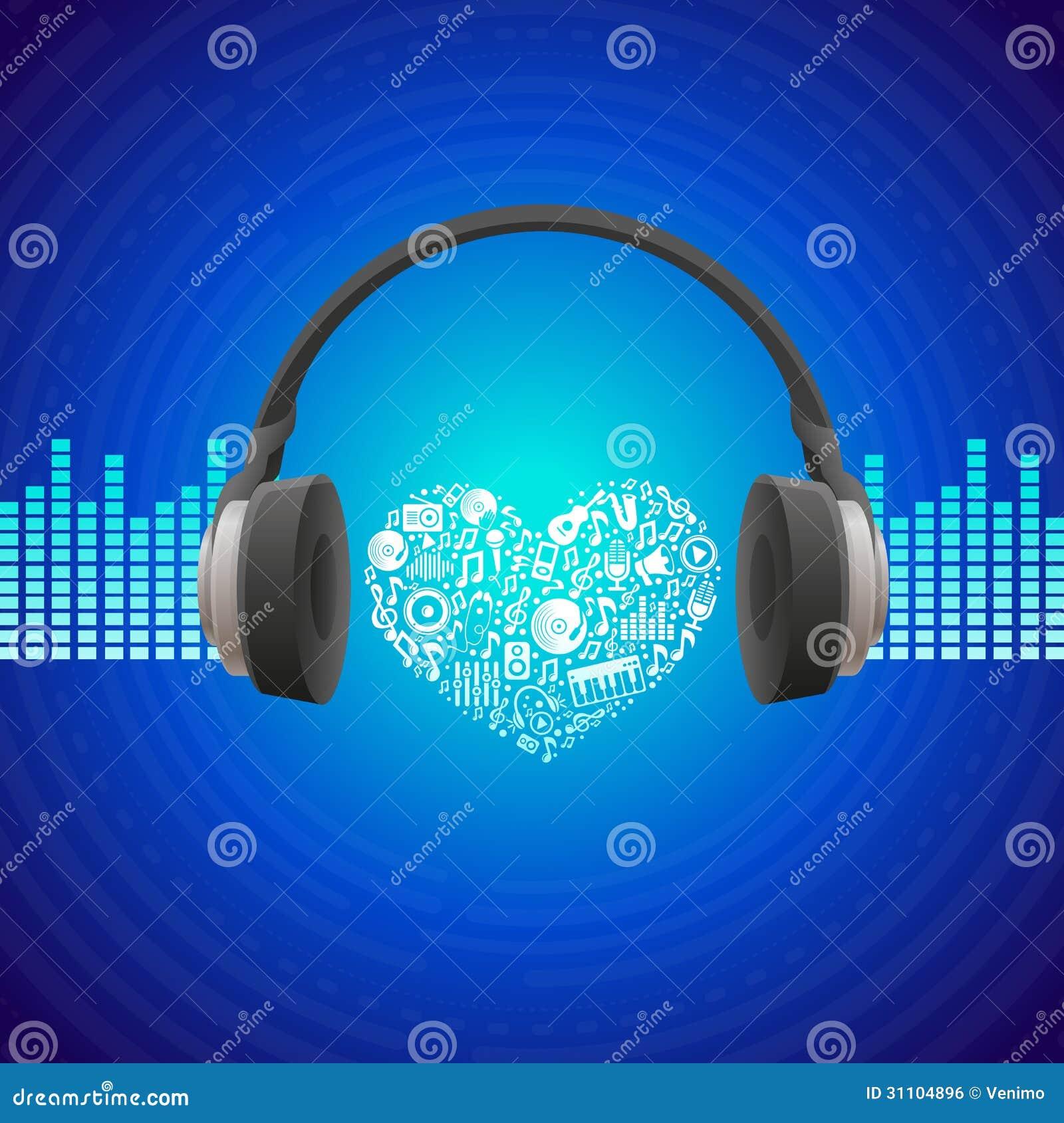 Concept de musique de vecteur