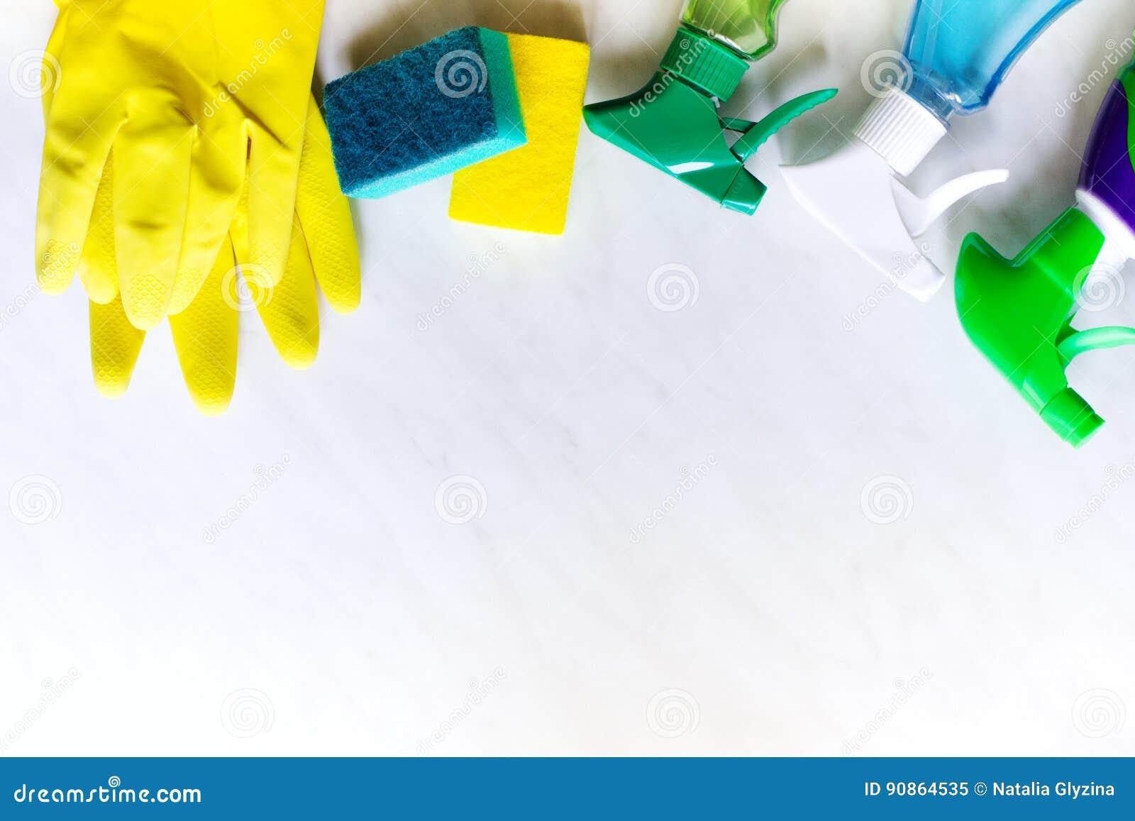 Concept de nettoyage de Chambre Produits d entretien