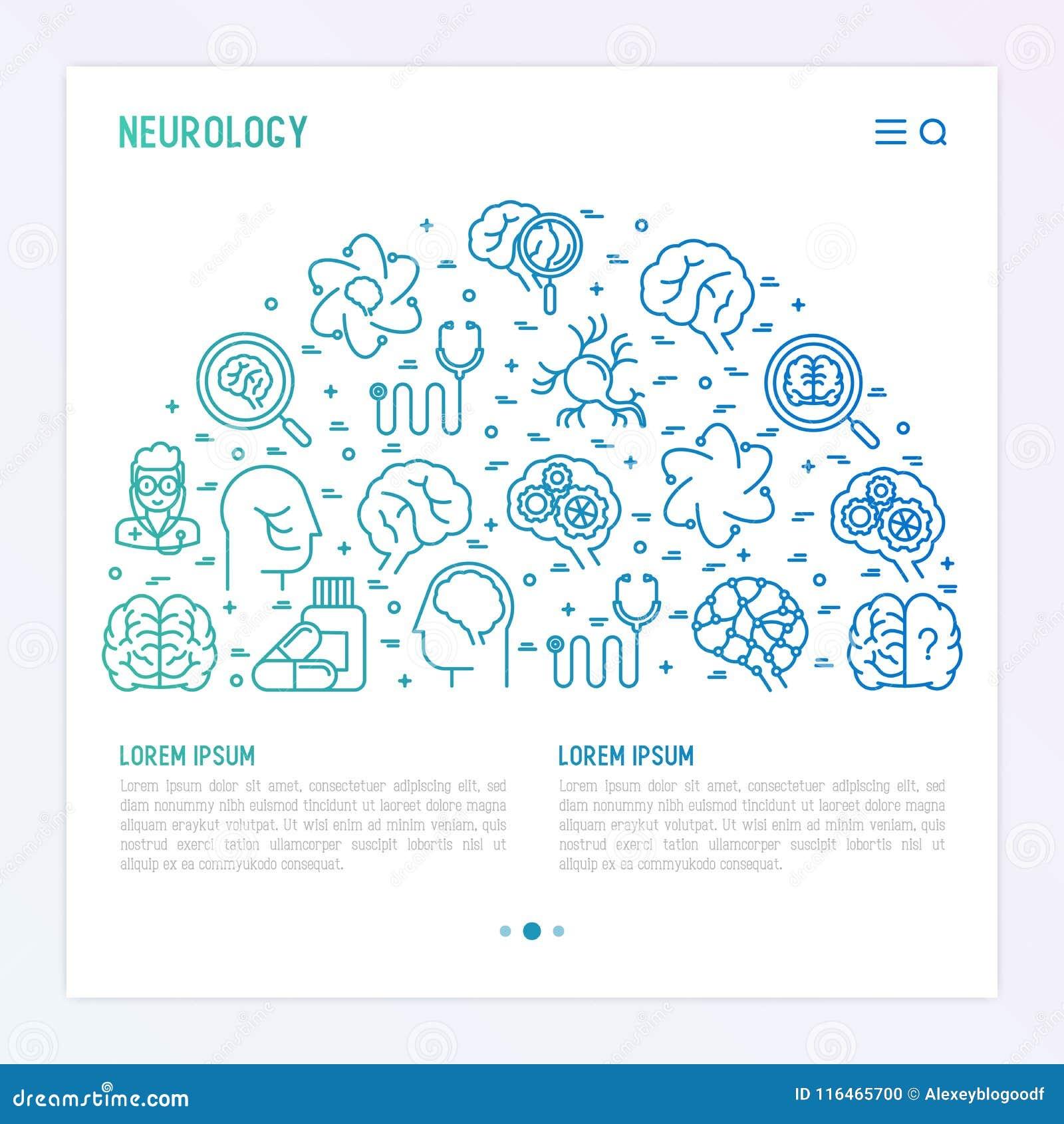 Concept de neurologie dans le demi-cercle