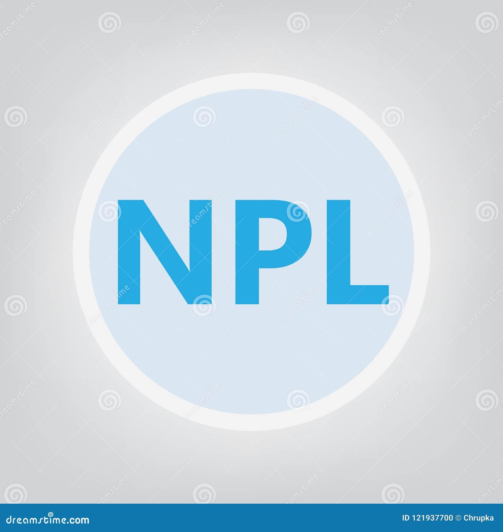 Concept de Non-exécution de prêt de NPL