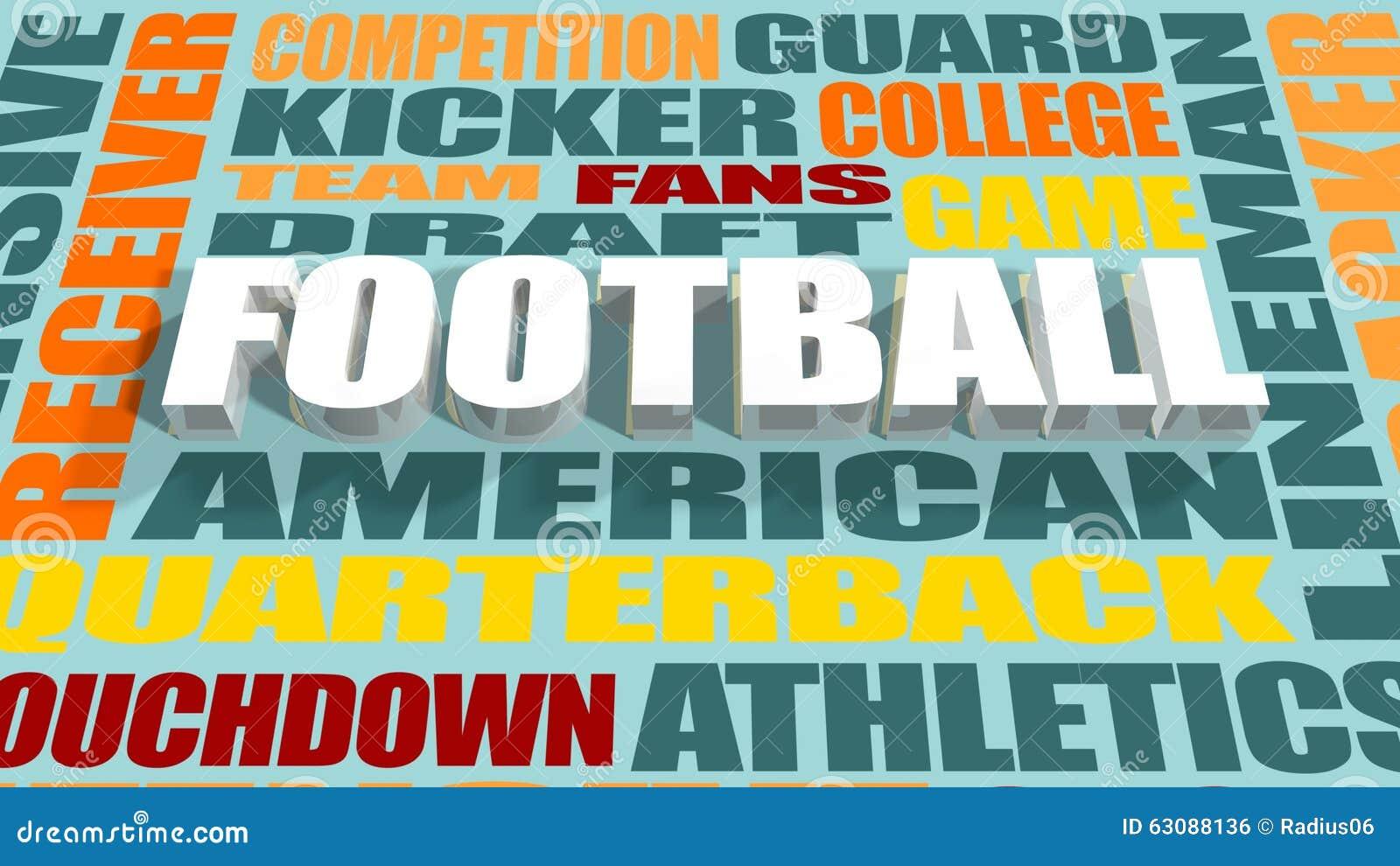 Download Concept De Nuage De Mot De Football Américain Illustration Stock - Illustration du action, zone: 63088136