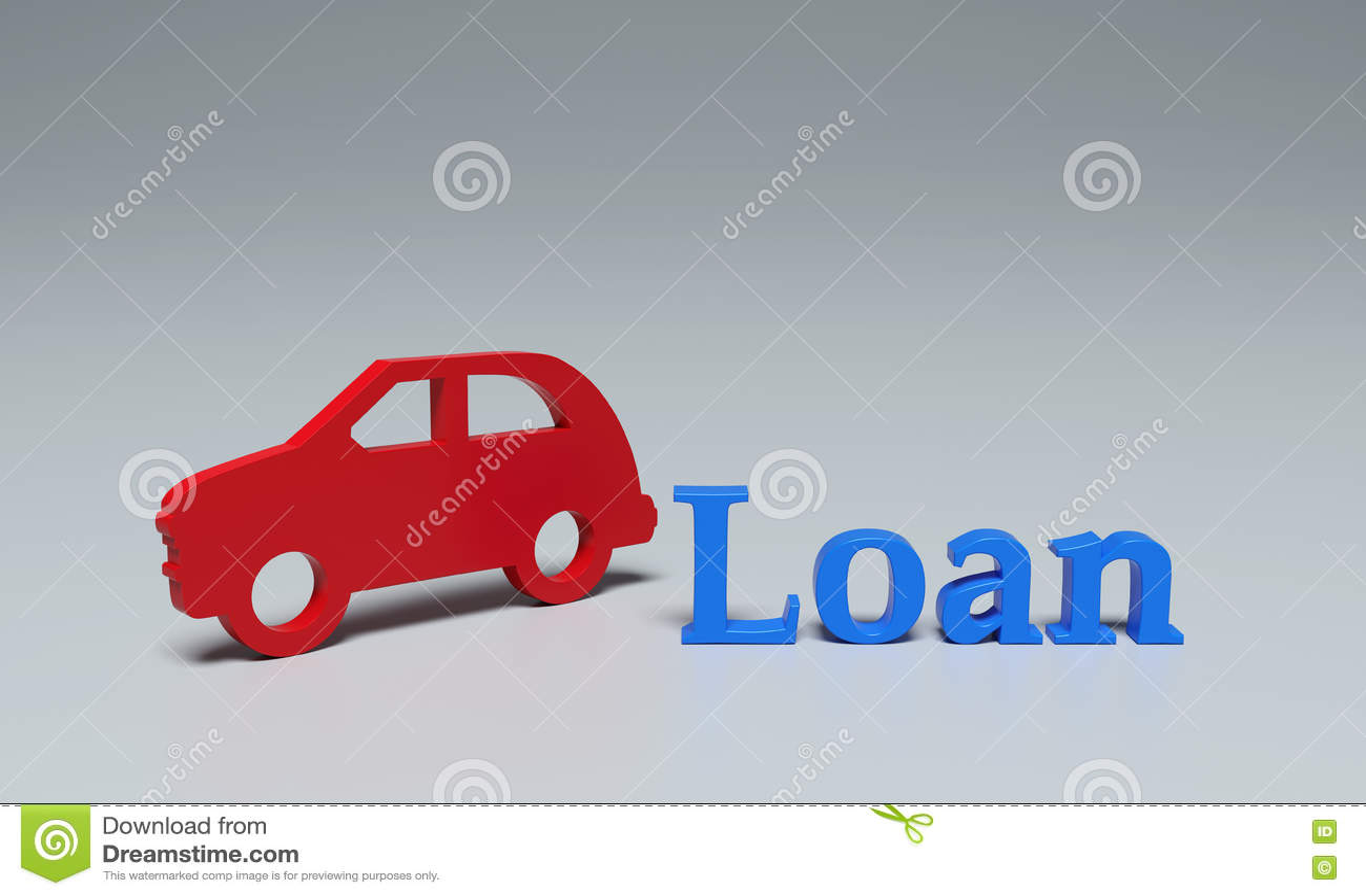 Concept de prêt automobile - images du rendu 3D