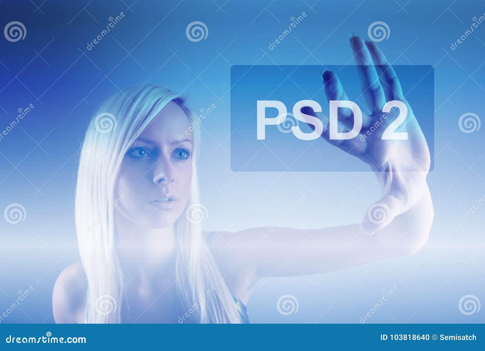 Concept de PSD2 - le paiement entretient la directive