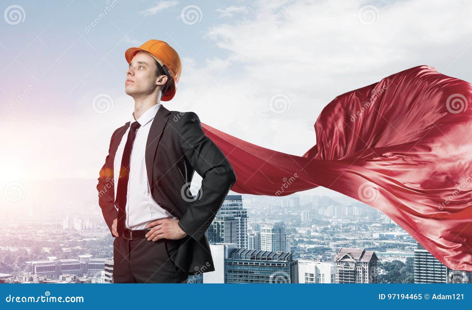 Concept de puissance et de succ s avec le super h ros d for Ville super moderne