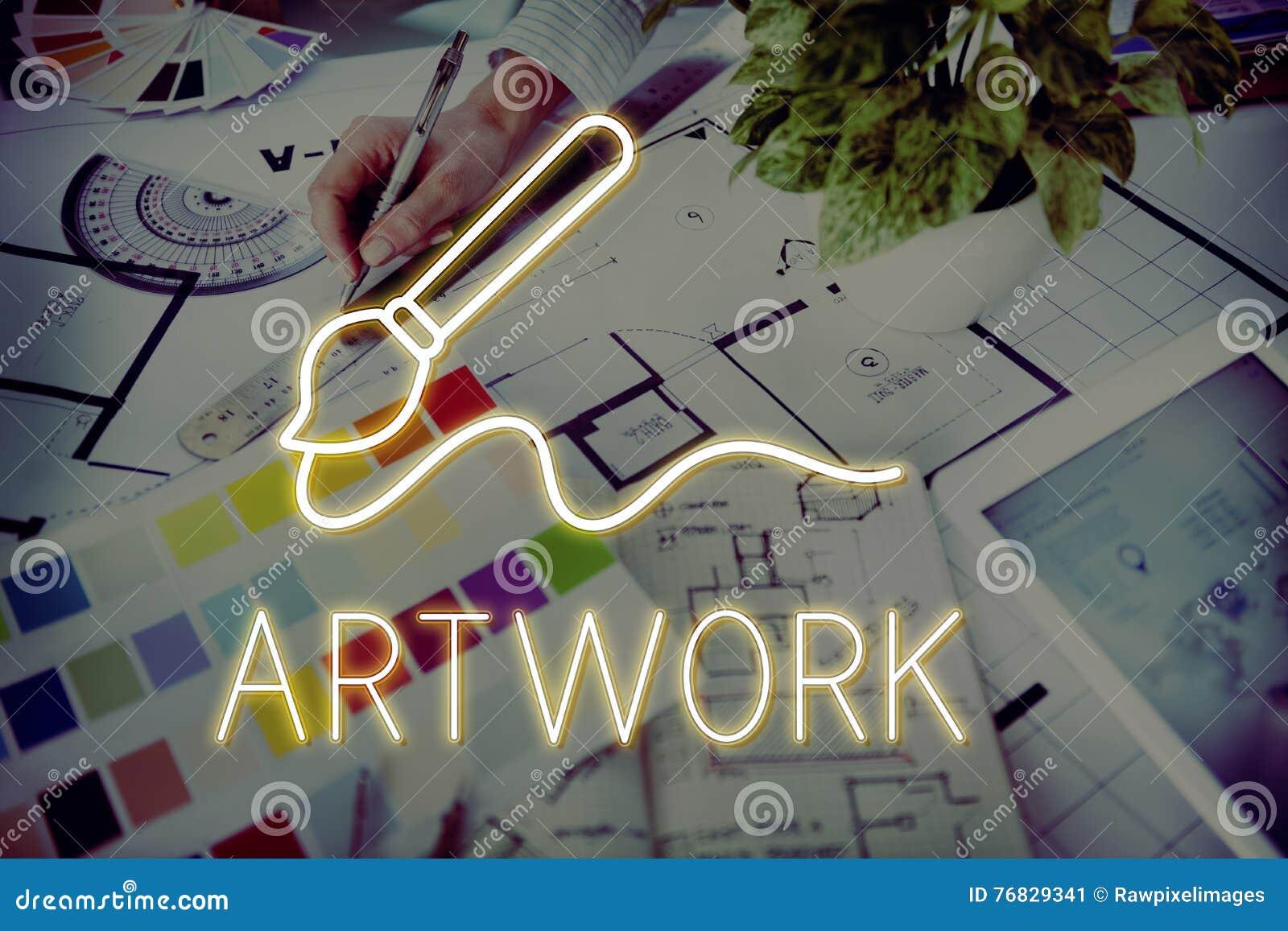 Concept de qualifications d Art Brush Painting Creativity Imagination
