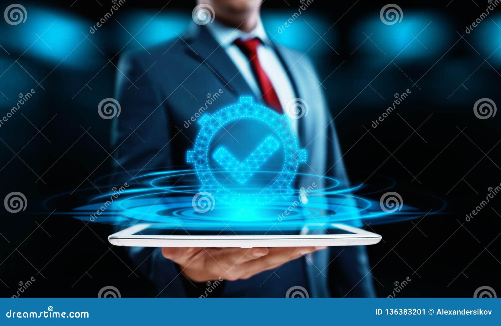 Concept de qualité normale de technologie d affaires d Internet de garantie d assurance de certification de contrôle