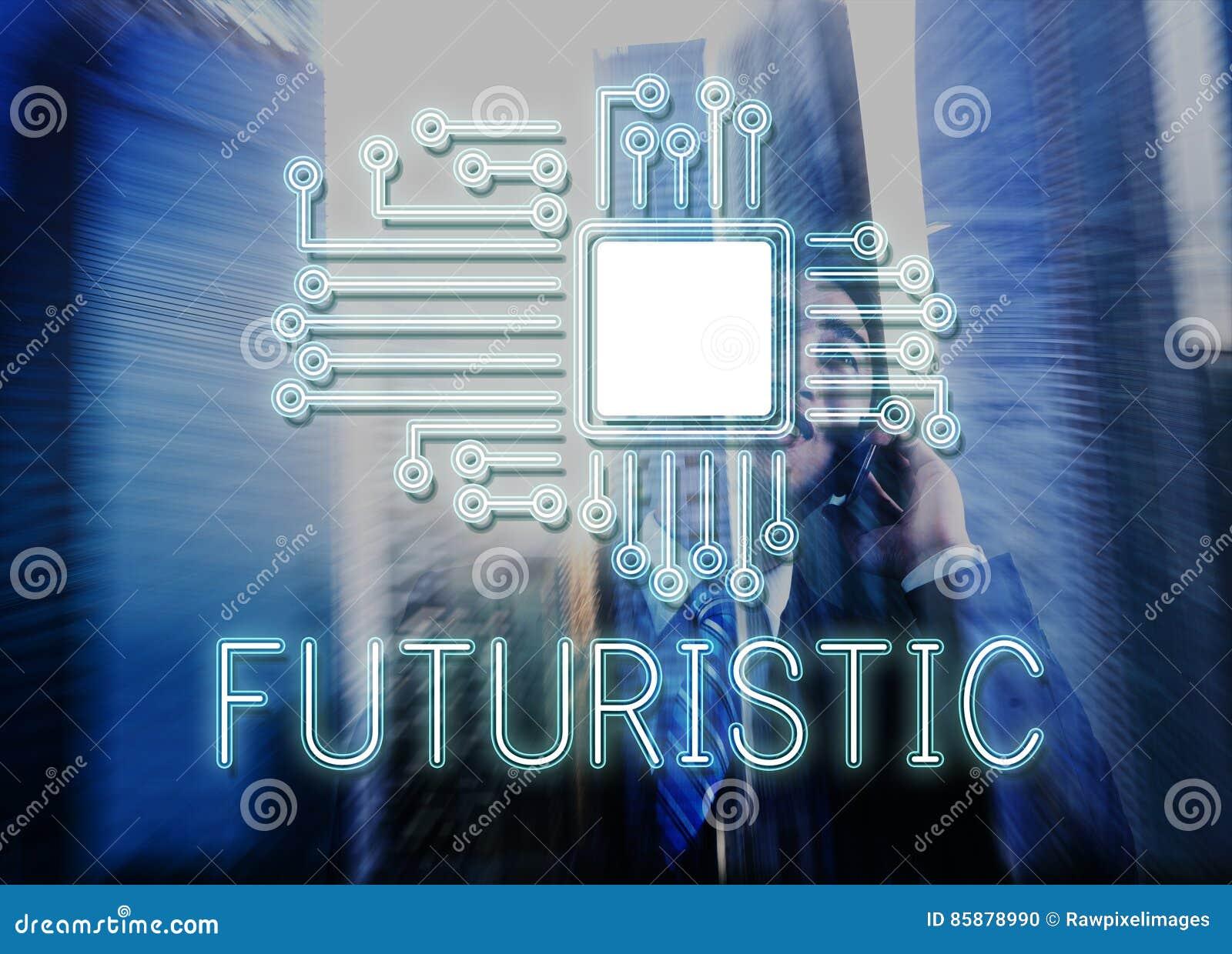 Concept de réseau d innovation de processeur de circuit de technologie
