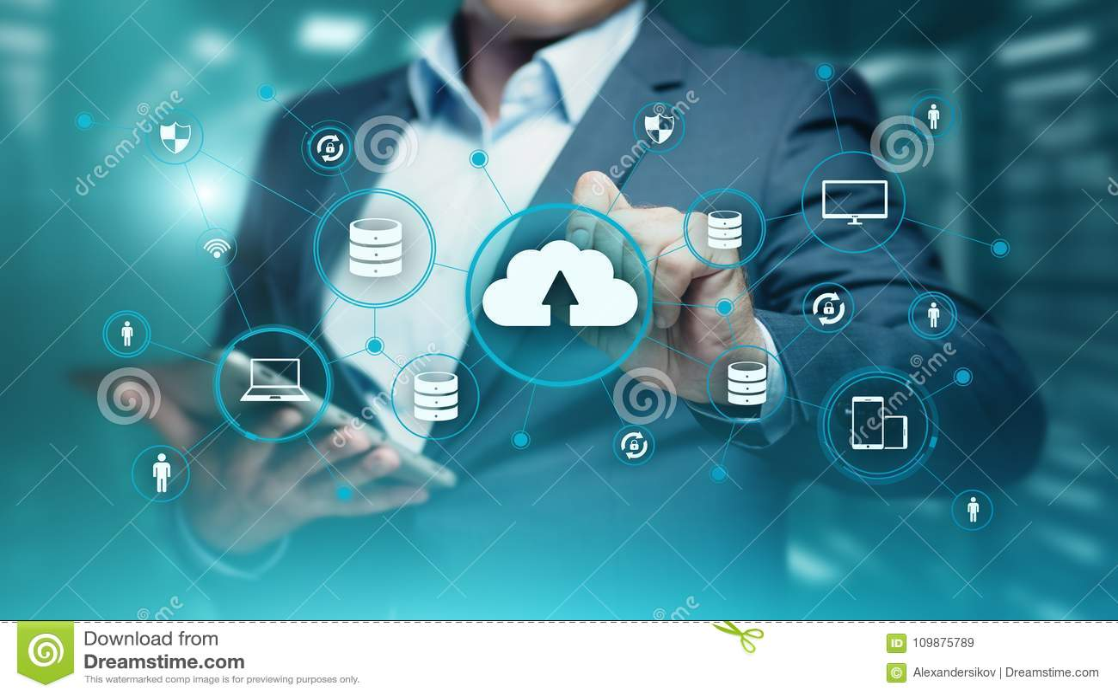 Concept de réseau de stockage d Internet de technologie informatique de nuage