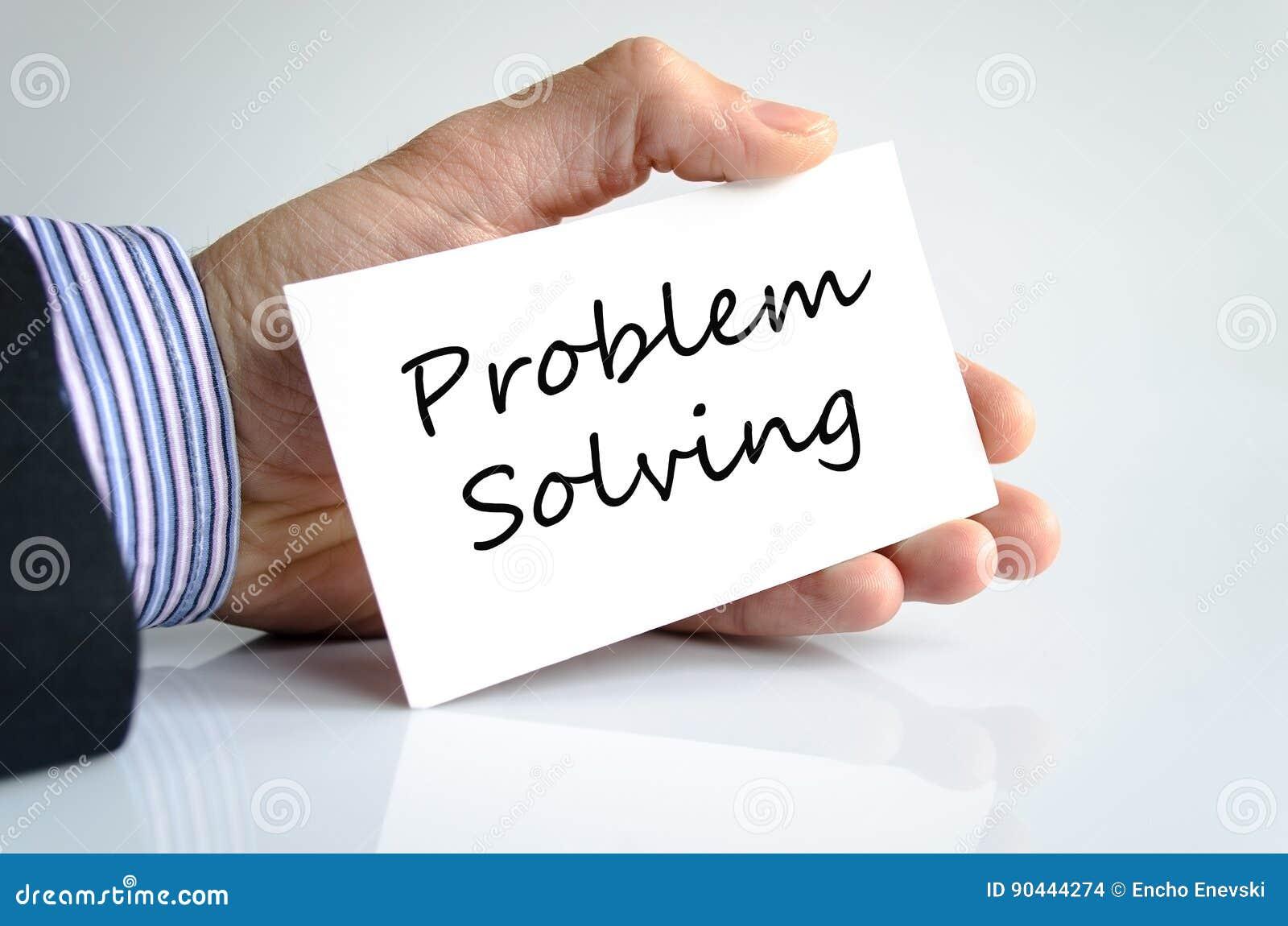Concept de résolution des problèmes