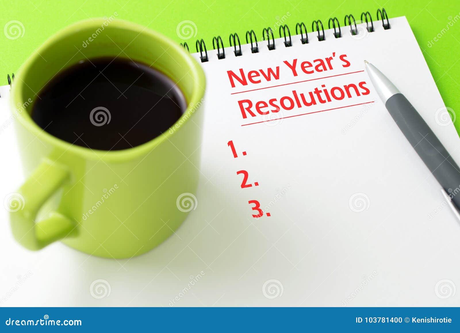 Concept de résolutions du ` s de nouvelle année