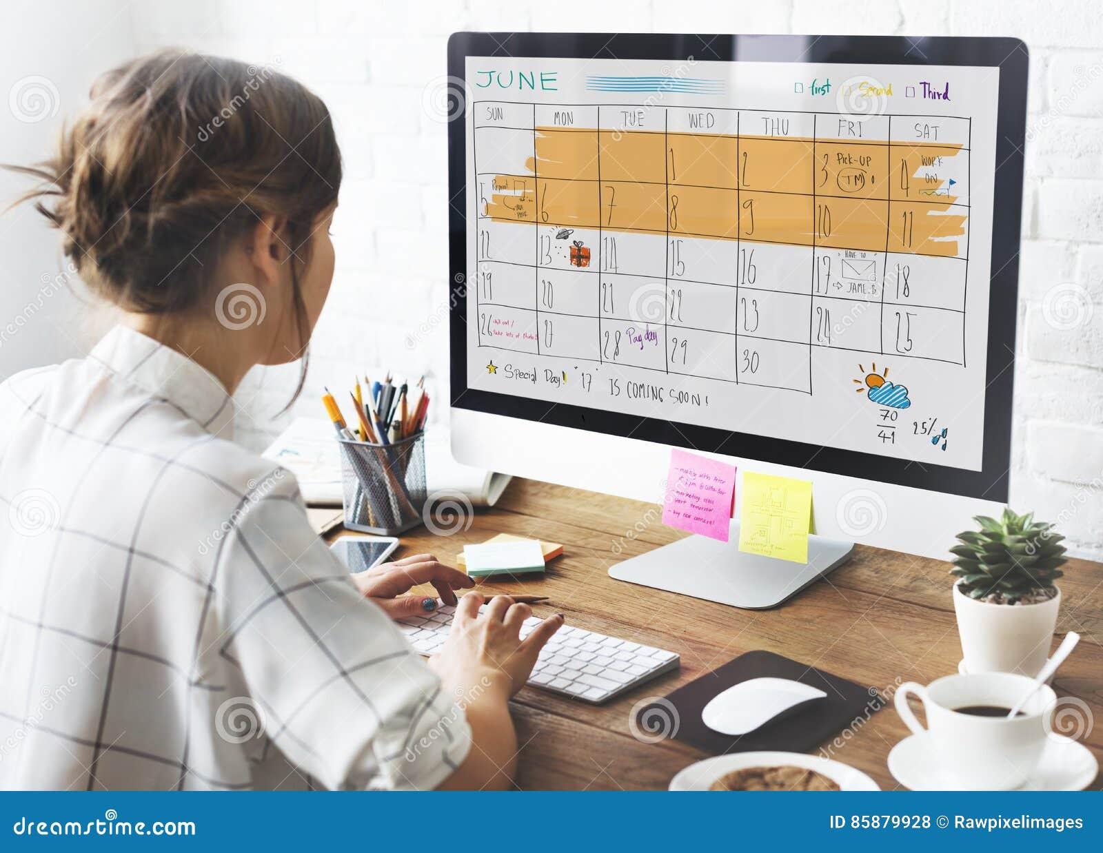 Concept de rappel de réunion de calendrier d ordre du jour d Appoinement