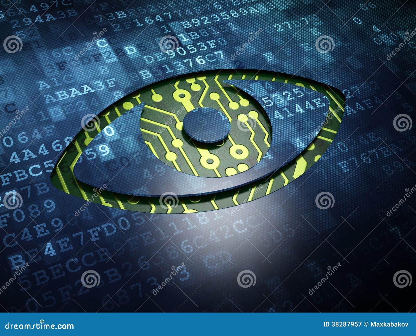 Assez Concept De Sécurité : Oeil Sur Le Fond D'écran Numérique  CU13