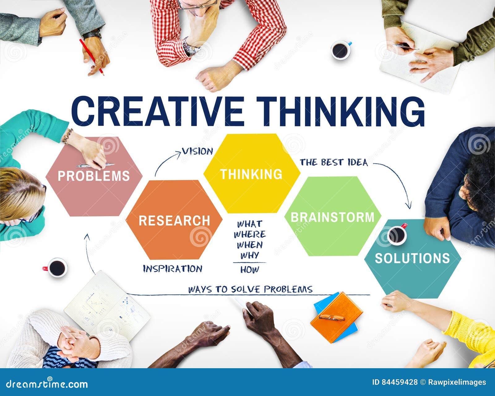 Concept de séance de réflexion de créativité de stratégie d innovation