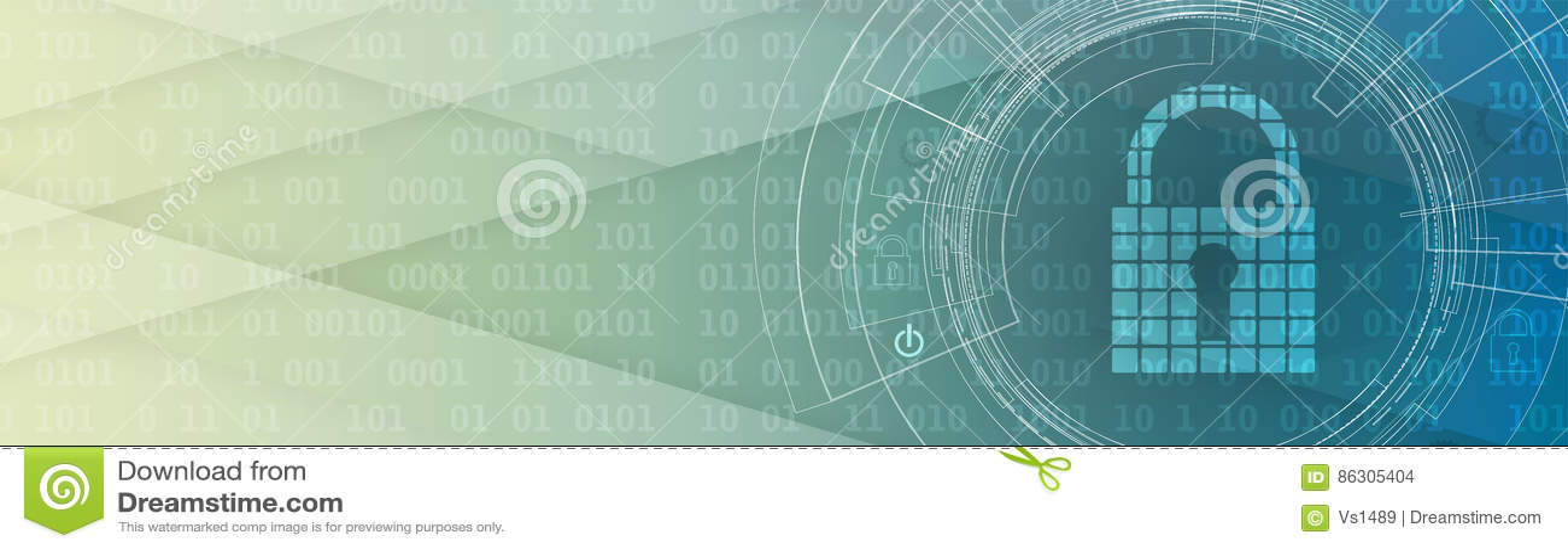 Concept de sécurité de technologie Fond numérique de sécurité moderne