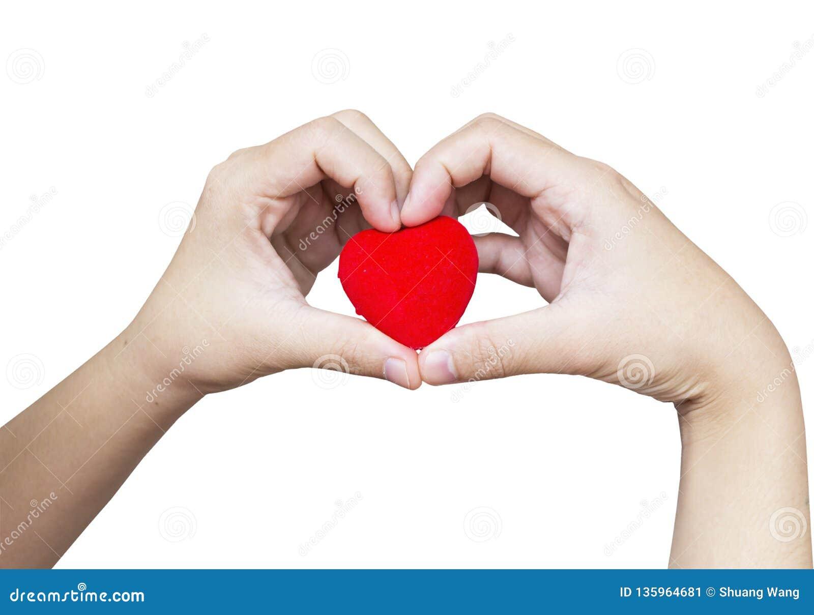 Concept de santé du monde : Tenir l amour rouge