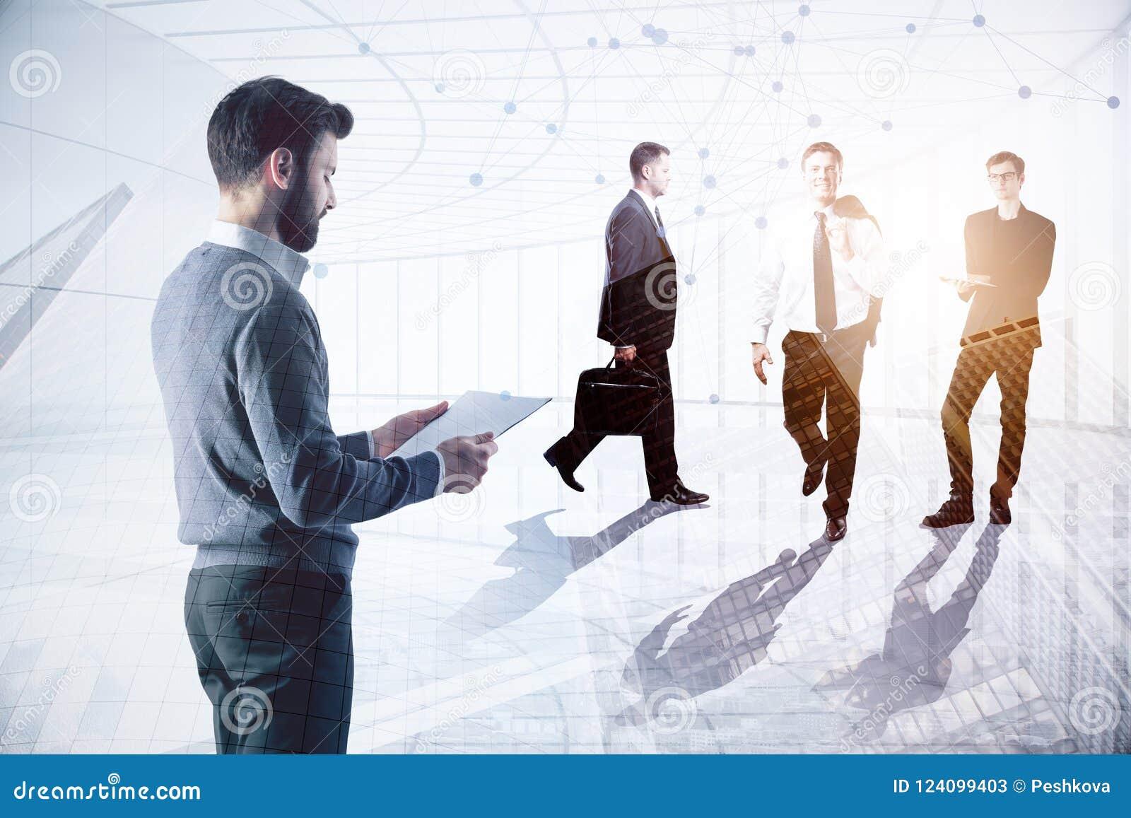 Concept de se réunir et de travail