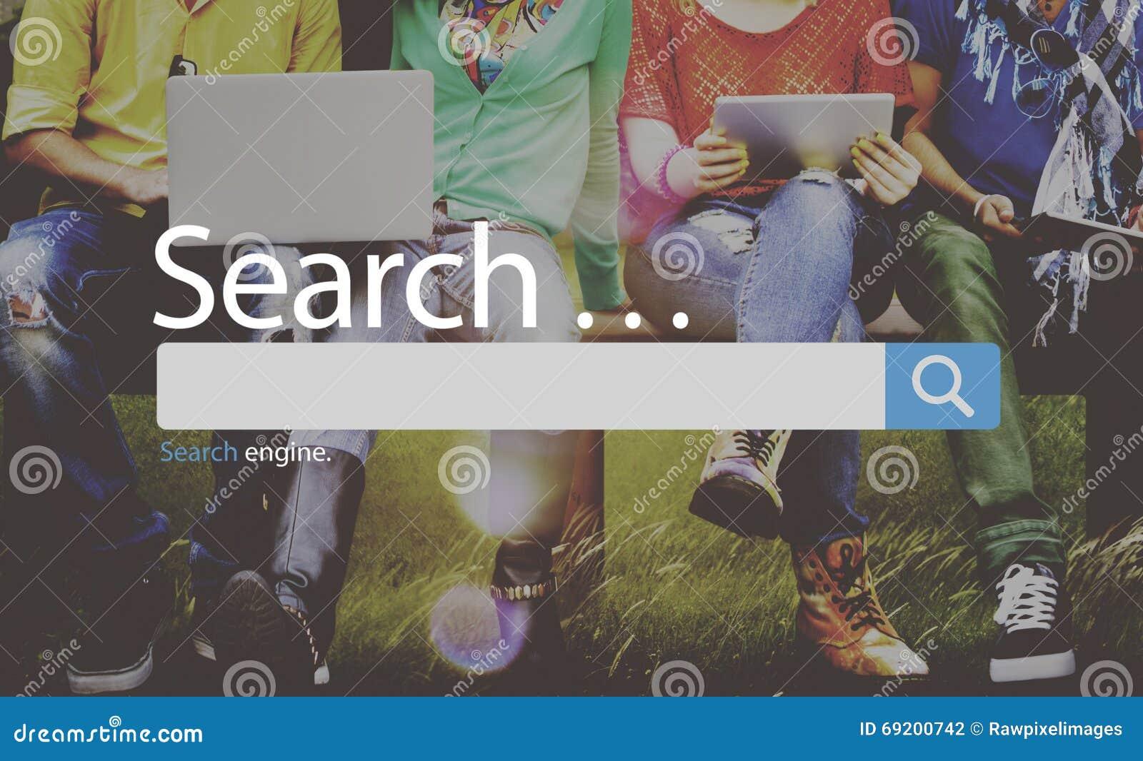 Concept de Seo Online Internet Browsing Web de recherche