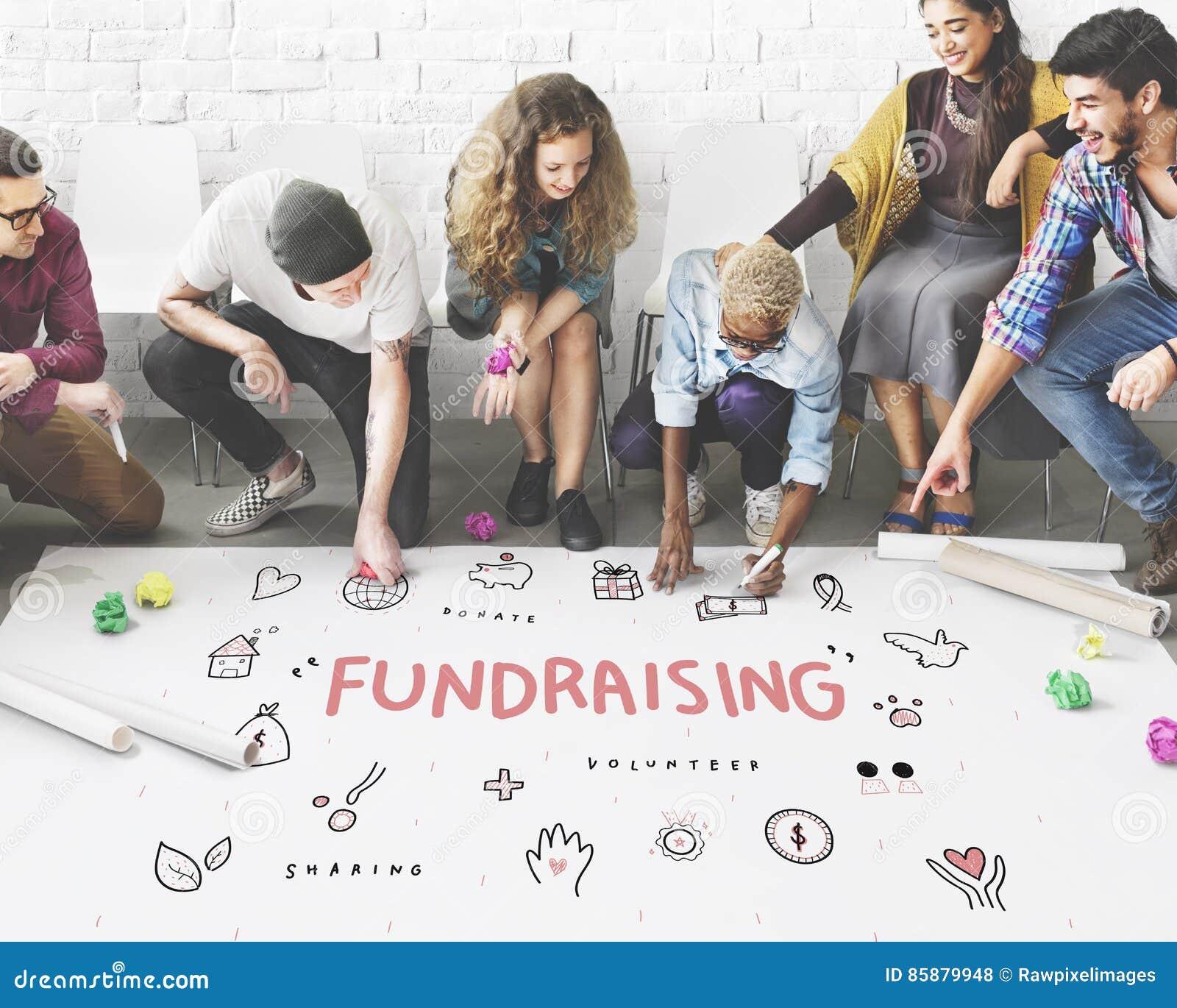 Concept de soutien de base de charité de donations de collecte de fonds