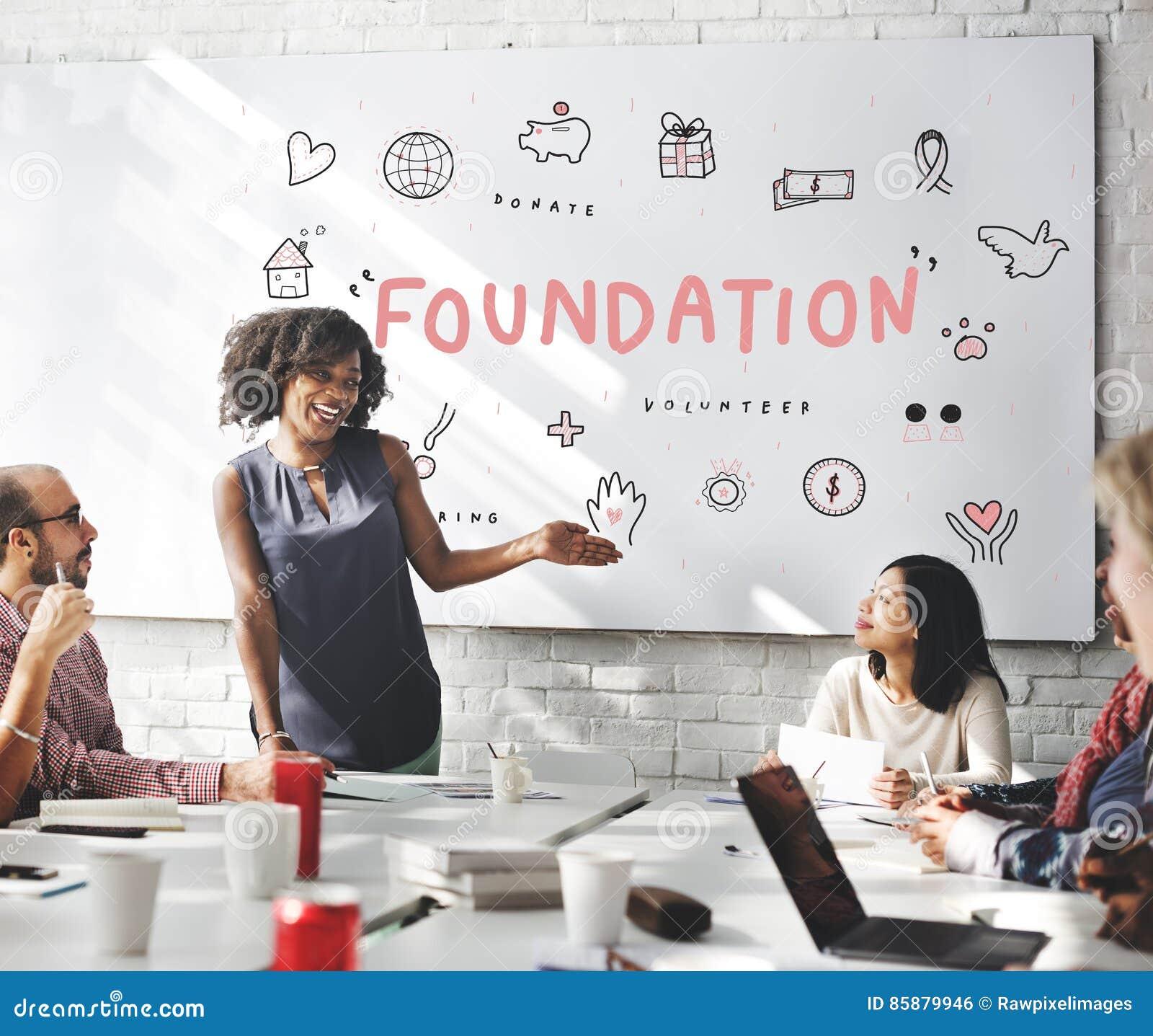 Concept de soutien de charité de donations de base