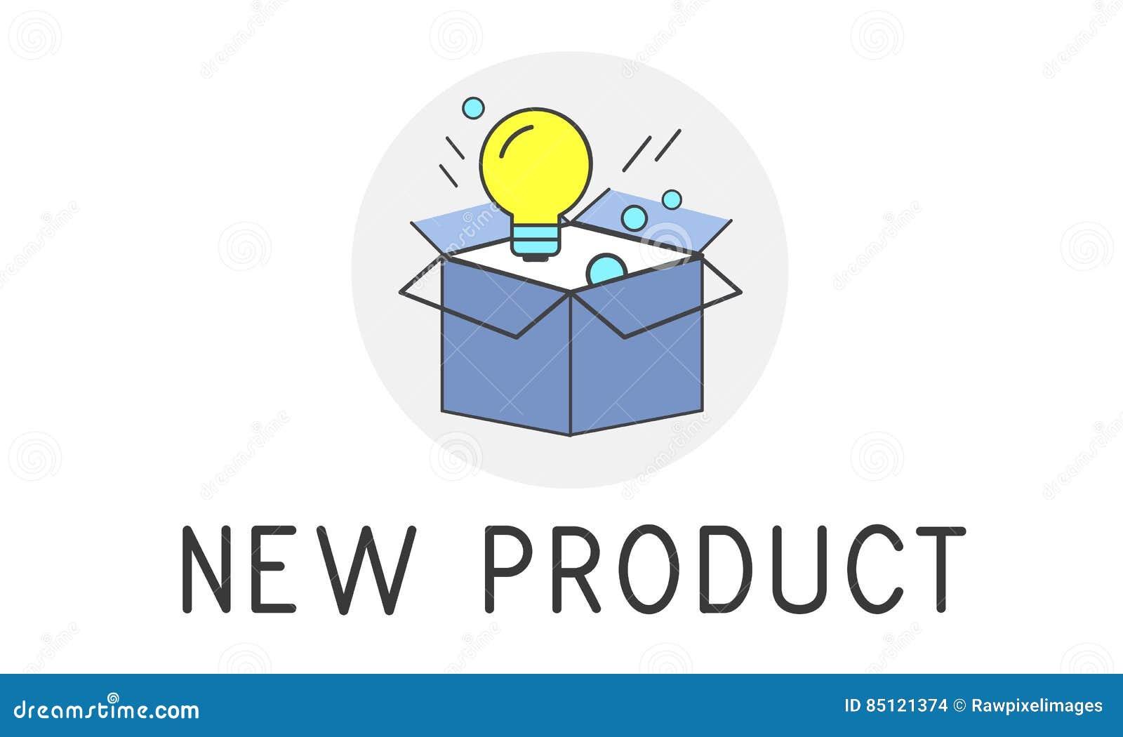 Concept de succès de développement de produit nouveau