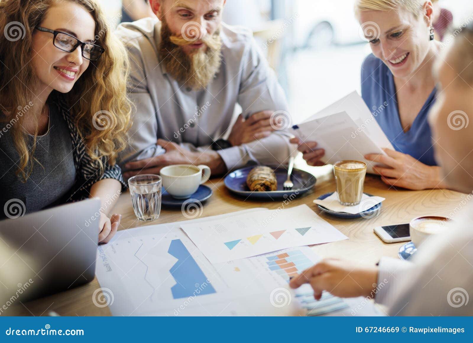 Concept de Team Meeting Strategy Marketing Cafe d affaires