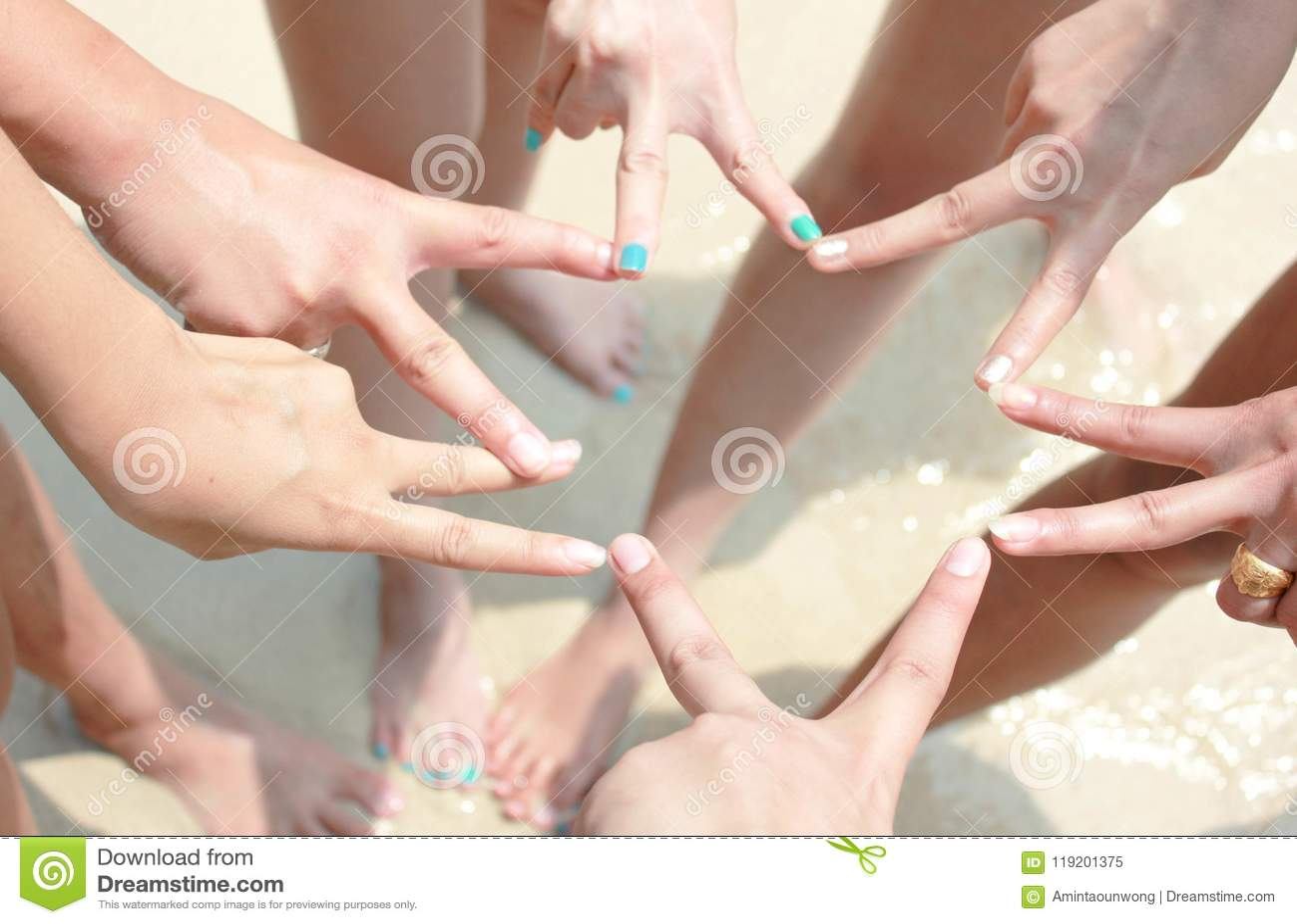 Concept de Team Teamwork Join Hands Partnership