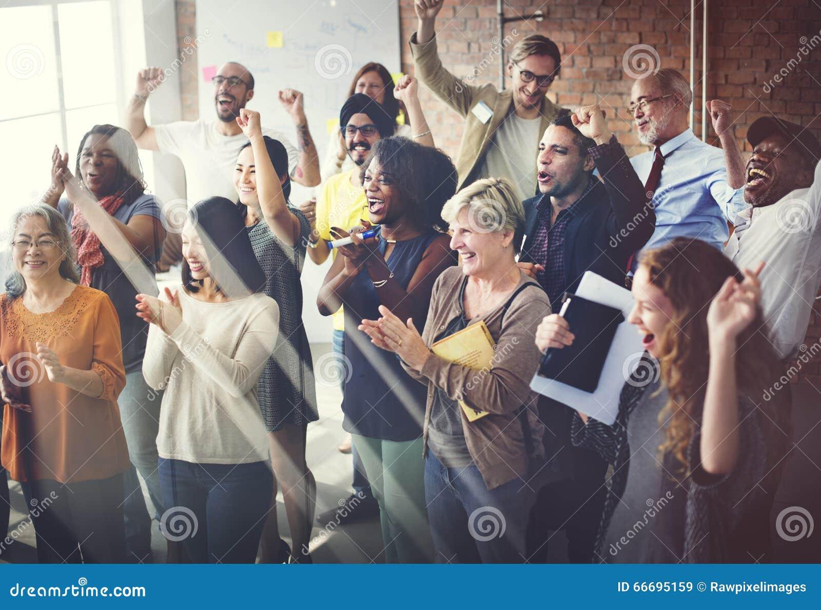 Concept de Team Teamwork Meeting Success Happiness