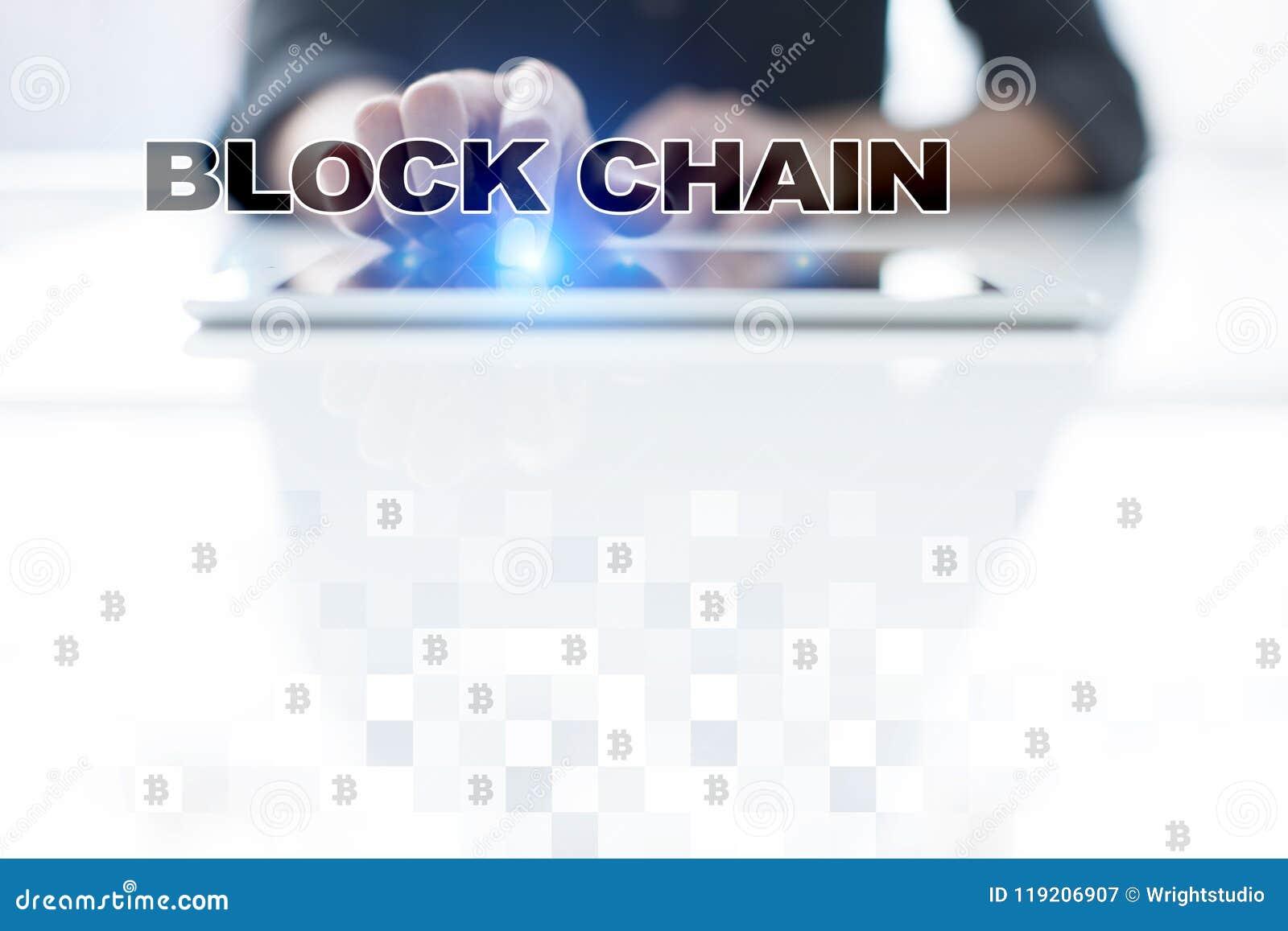 Concept de technologie de Blockchain Transfert d argent d Internet Cryptocurrency