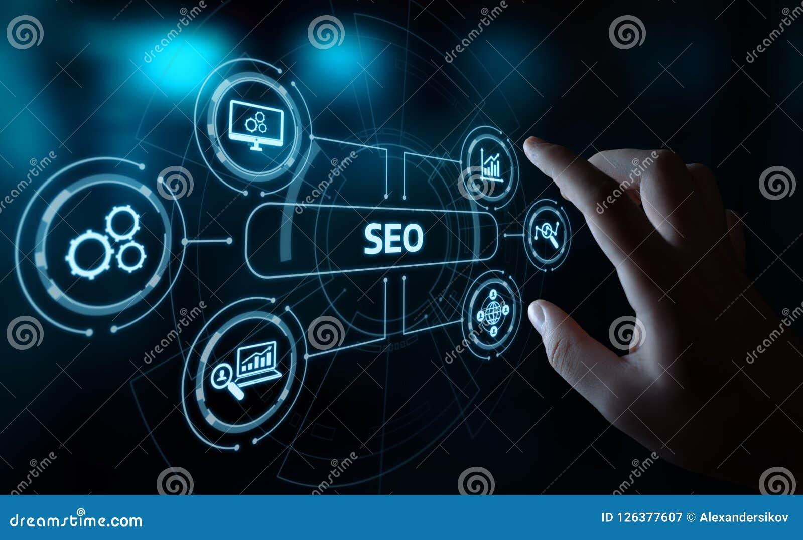 Concept de technologie d affaires d Internet de site Web du trafic de rang de SEO Search Engine Optimization Marketing
