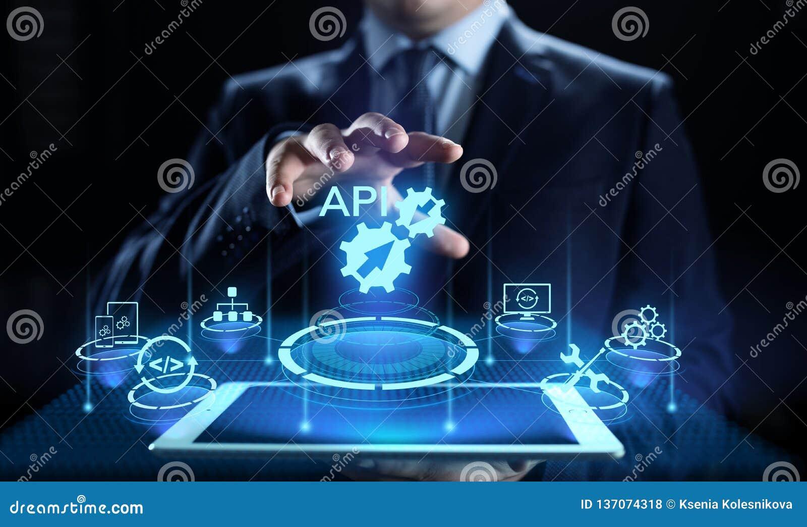 Concept de technologie d API Application Programming Interface Development