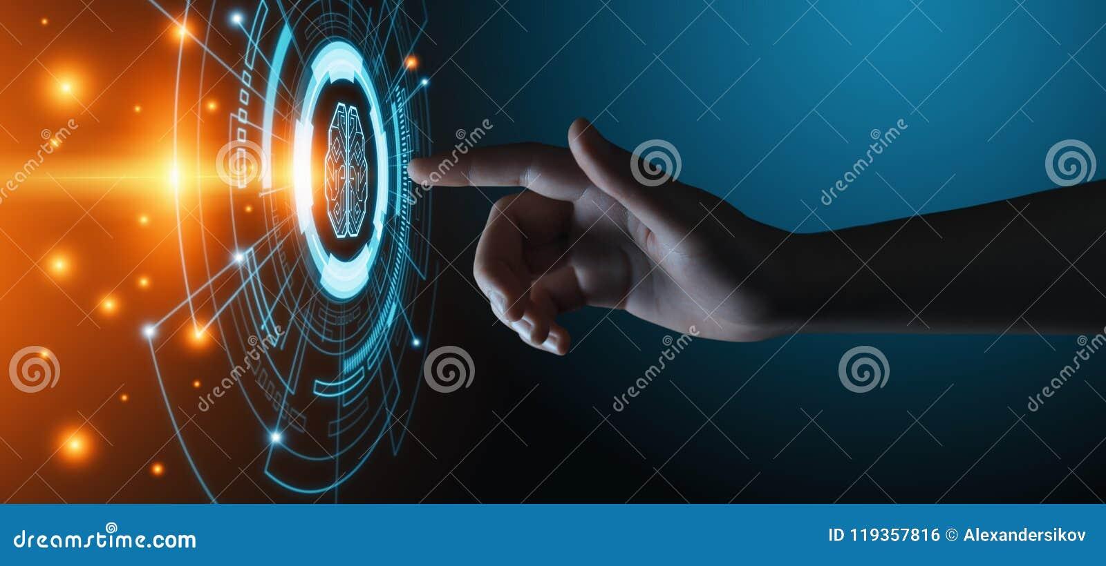 Concept de technologie d Internet d affaires d apprentissage automatique d intelligence artificielle