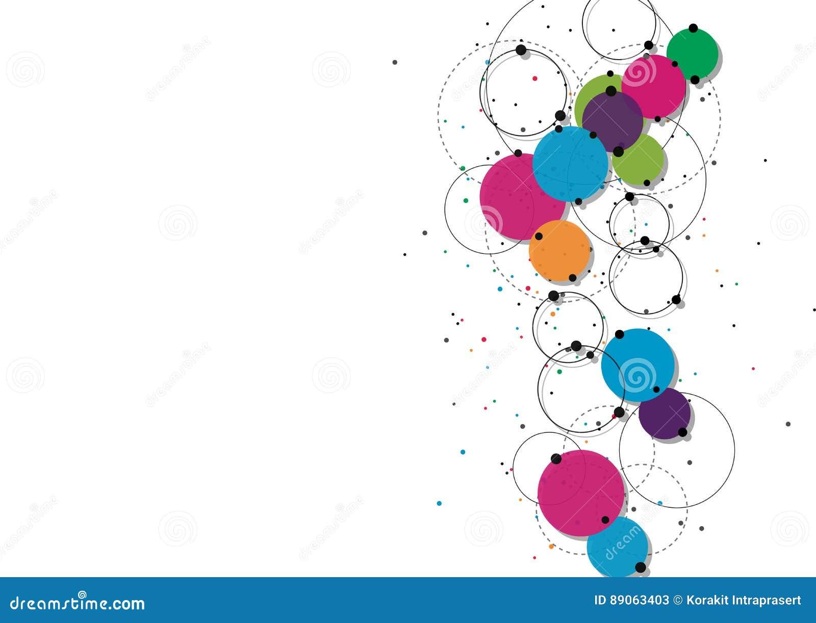Concept de technologie de vecteur Lignes et points reliés Signe de réseau