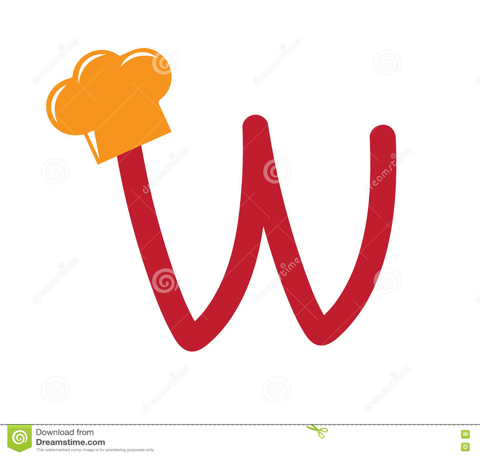 Concept de themed alphabet design de cuisinier w for Cuisinier 7 lettres